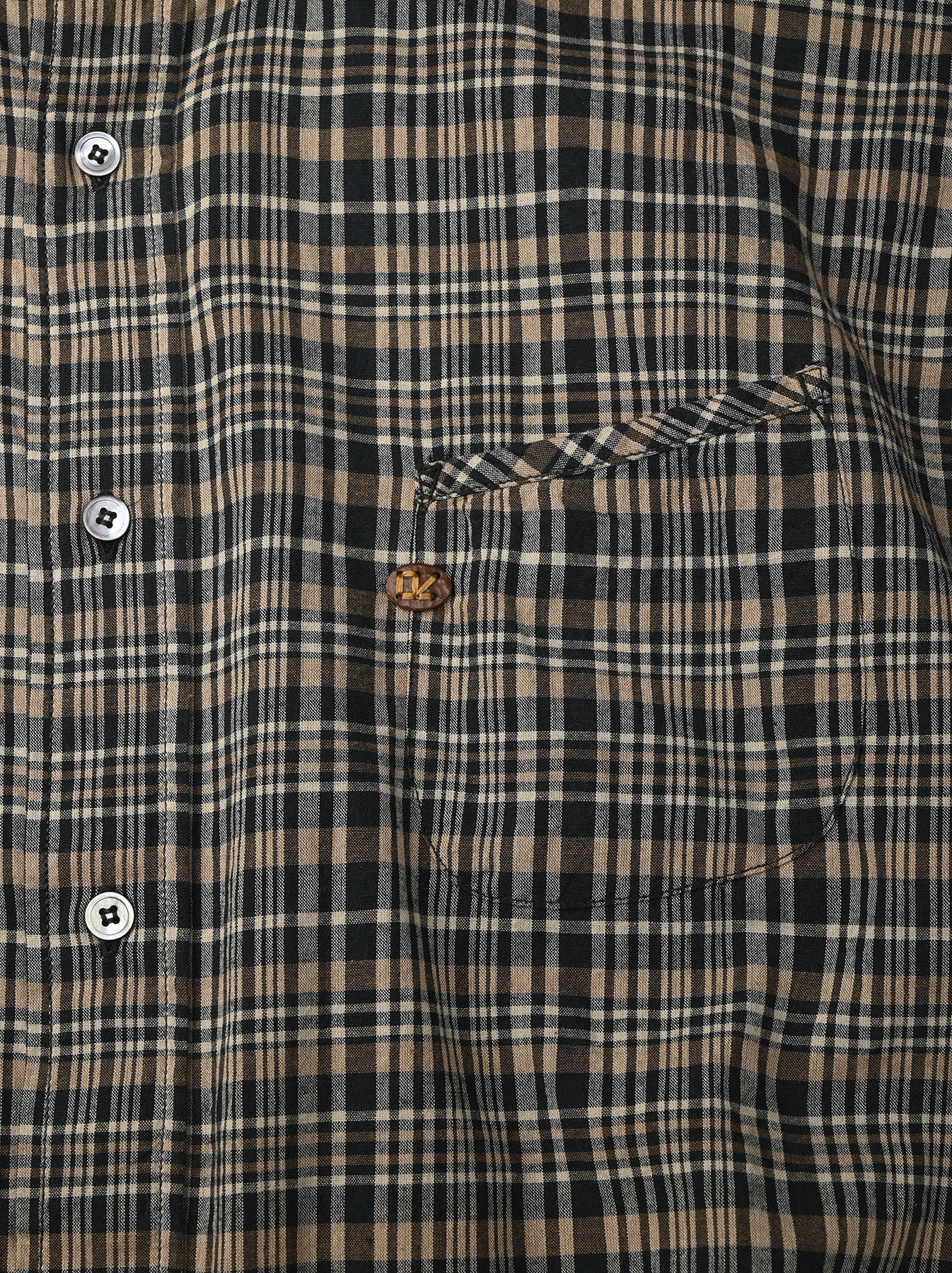 Indian Mugi-hira 908 Ocean Button Down Shirt (0421)-10