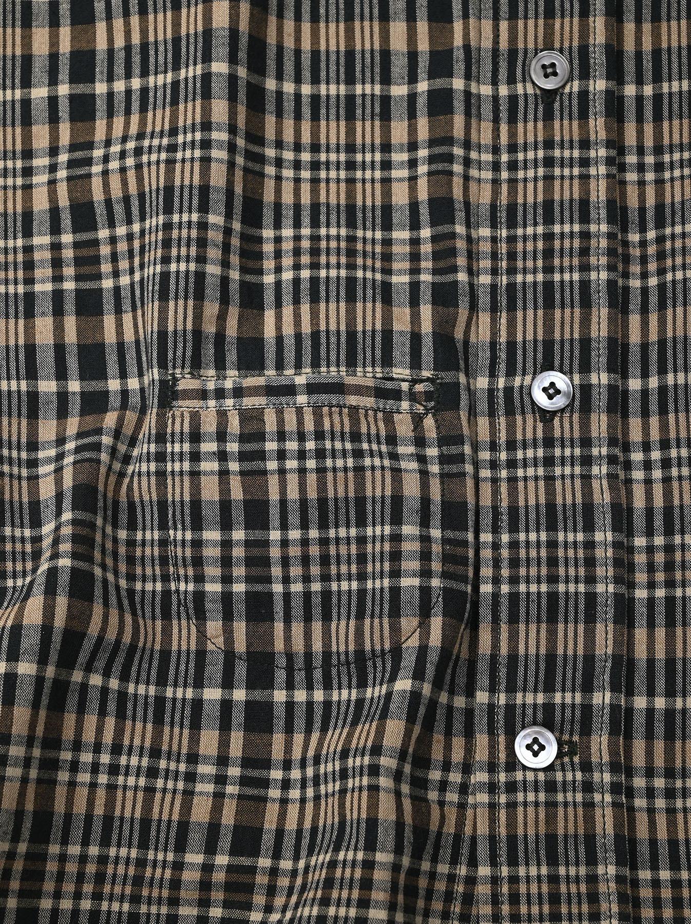 Indian Mugi-hira 908 Ocean Button Down Shirt (0421)-11