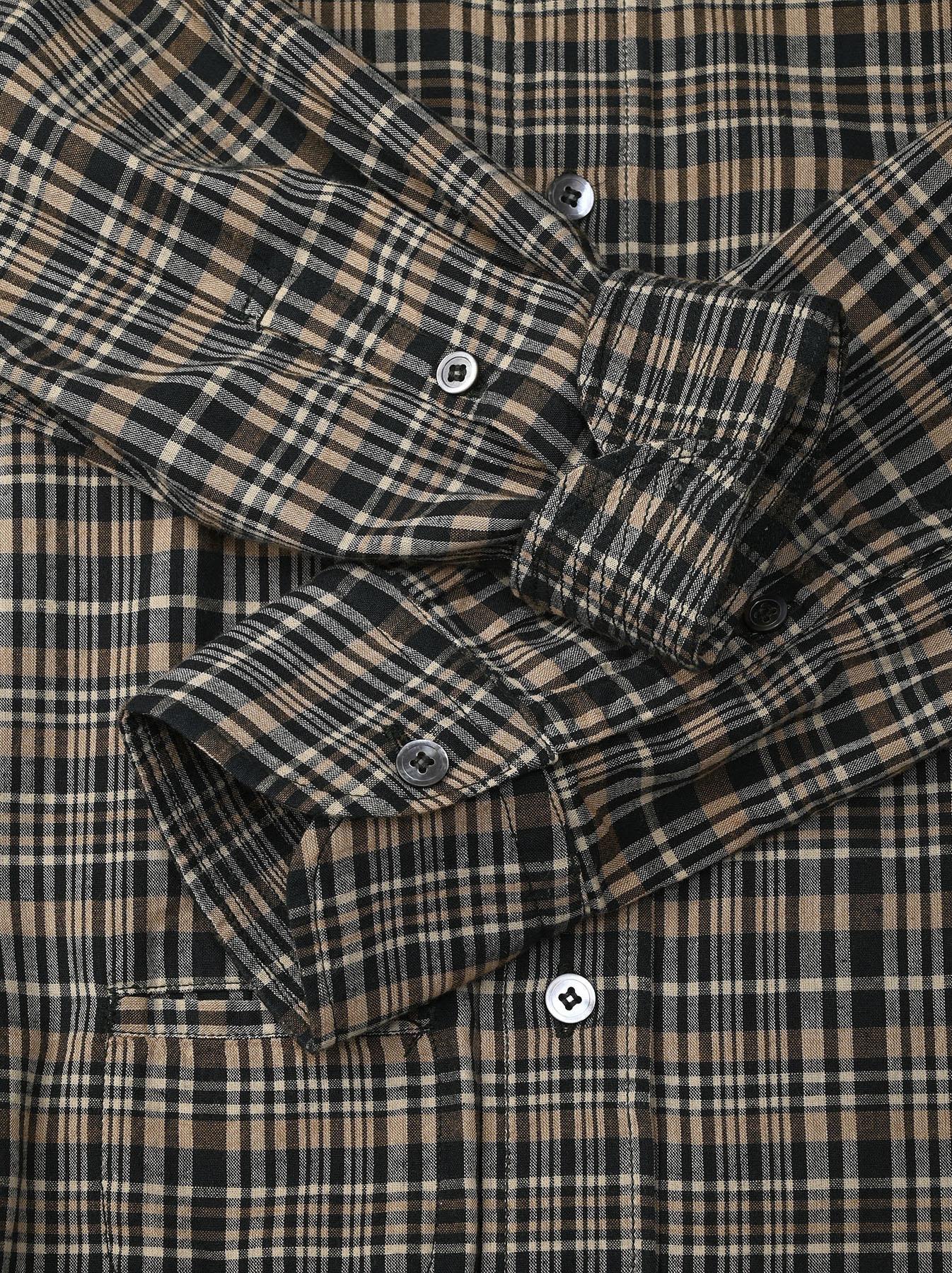 Indian Mugi-hira 908 Ocean Button Down Shirt (0421)-12