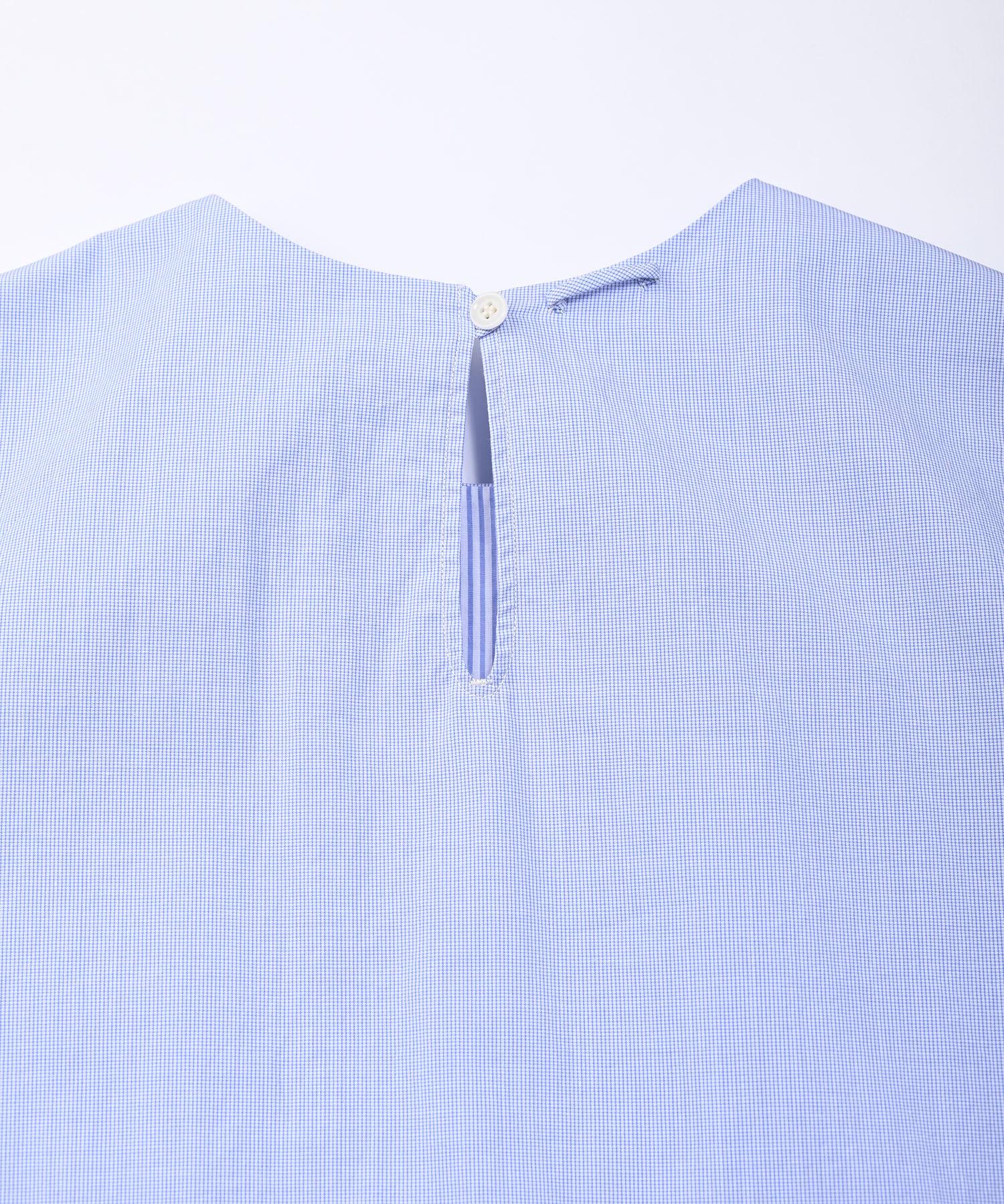 Damp Yarn Dyed Musou Dress Blue (0421)-8