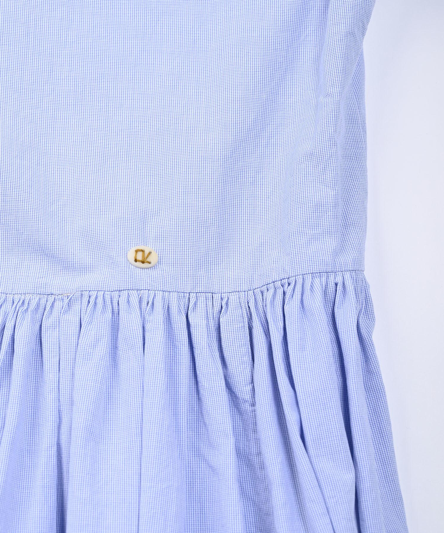 Damp Yarn Dyed Musou Dress Blue (0421)-9
