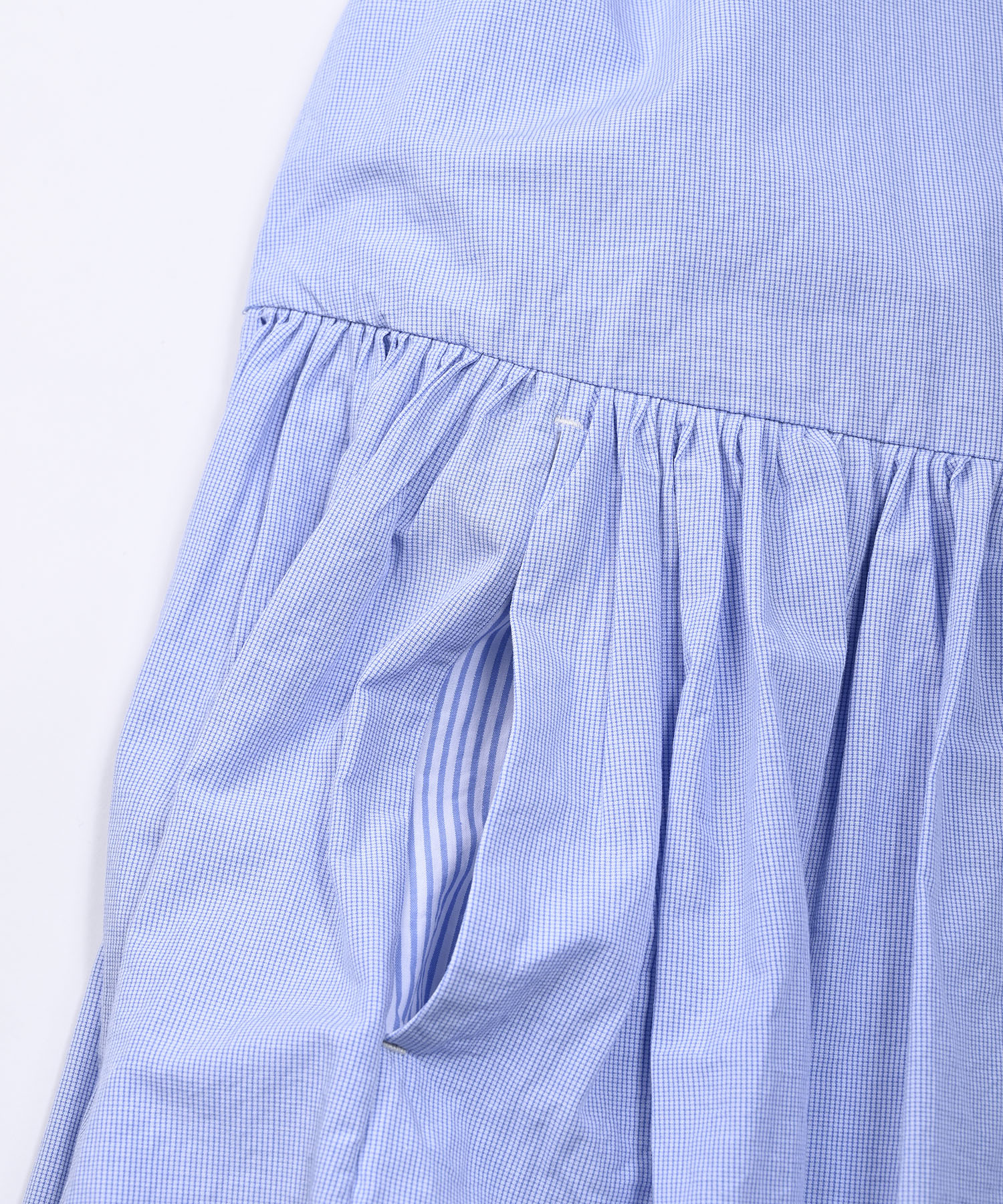 Damp Yarn Dyed Musou Dress Blue (0421)-10