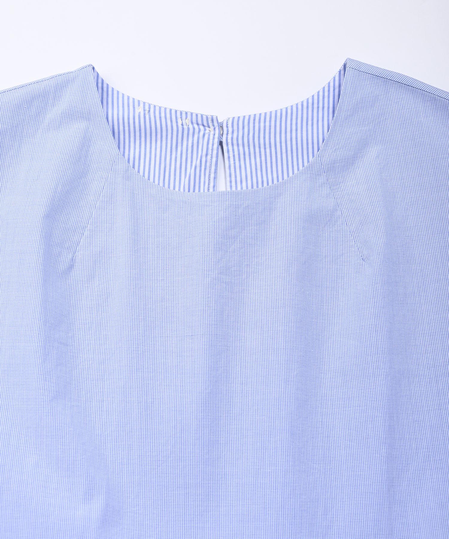 Damp Yarn Dyed Musou Dress Blue (0421)-7