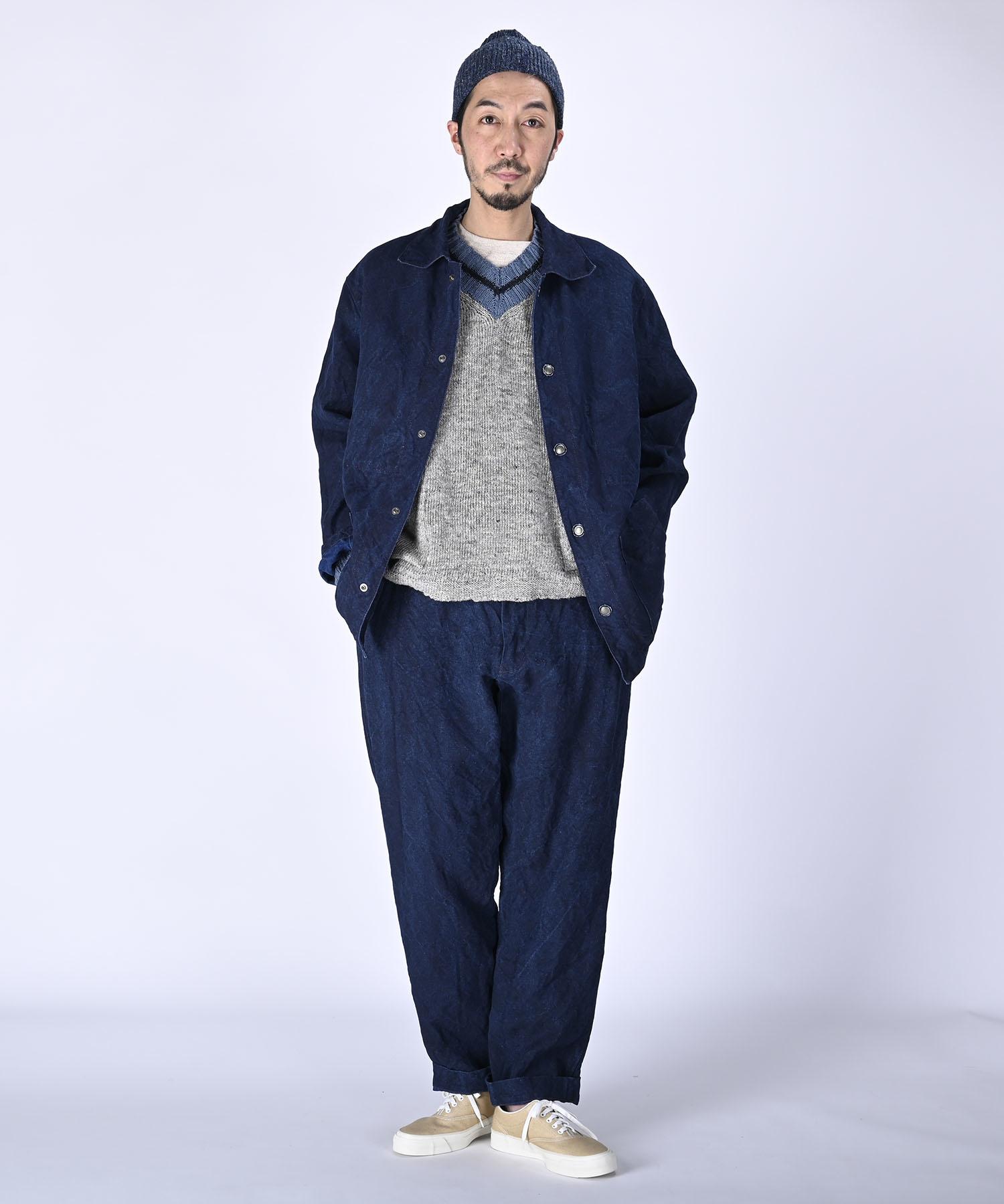 Indigo Linen Duck 908 Asama Coverall (0421)-2