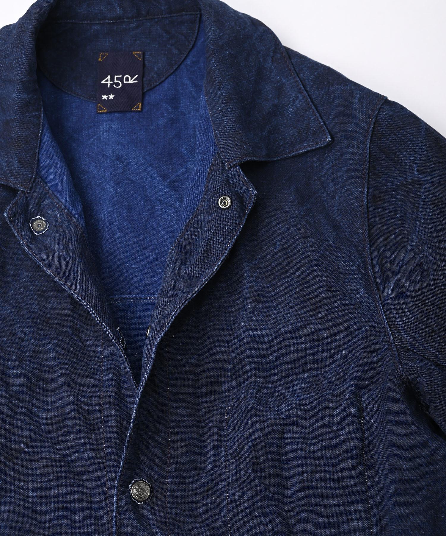 Indigo Linen Duck 908 Asama Coverall (0421)-8