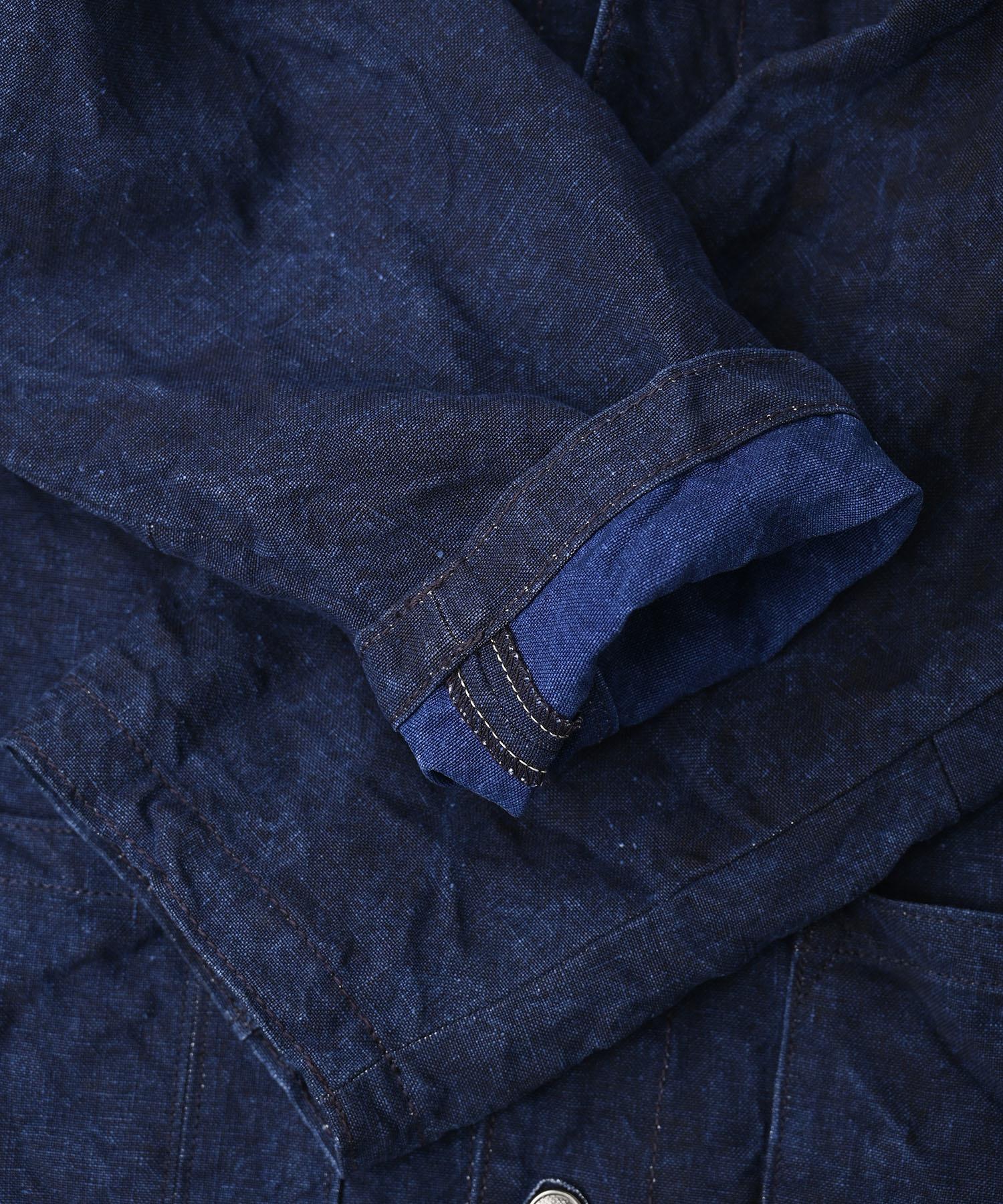 Indigo Linen Duck 908 Asama Coverall (0421)-11