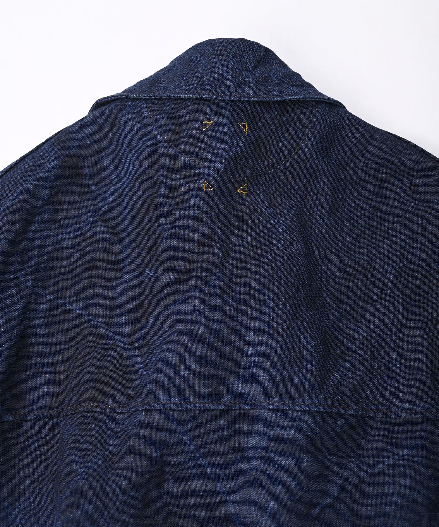 Indigo Linen Duck 908 Asama Coverall (0421)-9