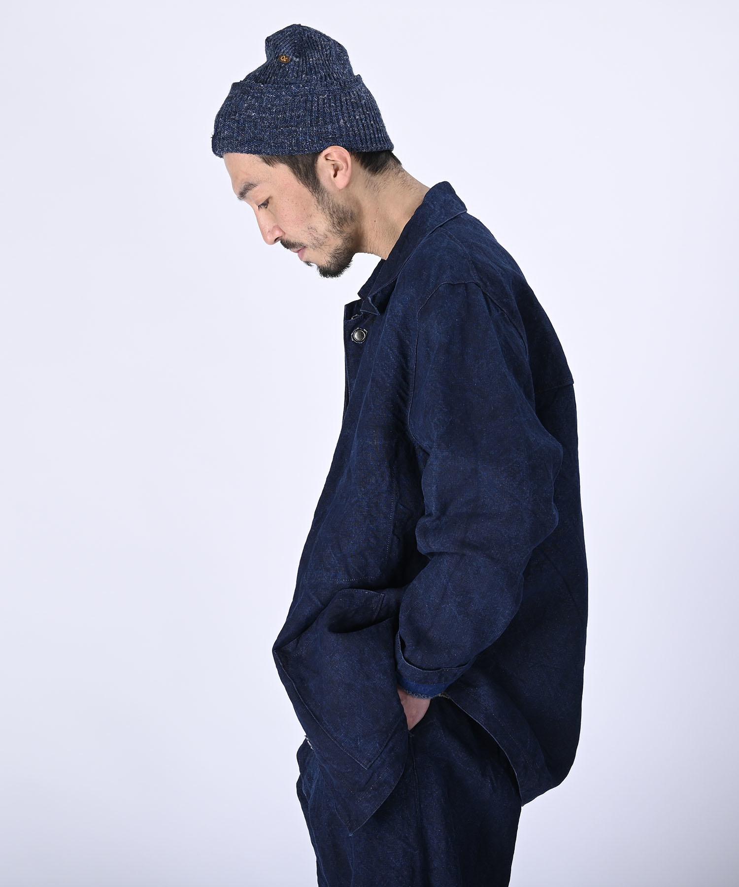Indigo Linen Duck 908 Asama Coverall (0421)-4