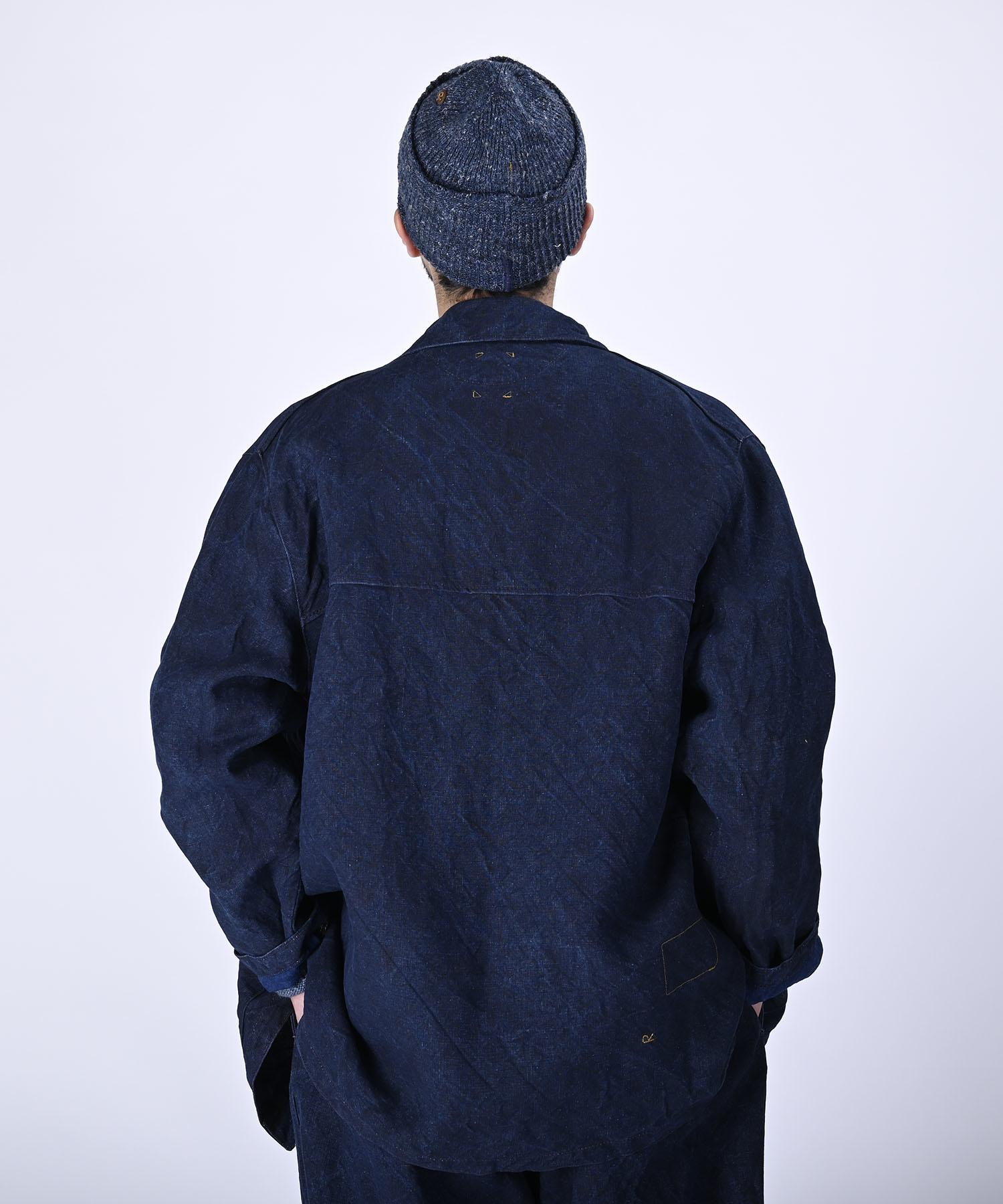 Indigo Linen Duck 908 Asama Coverall (0421)-5
