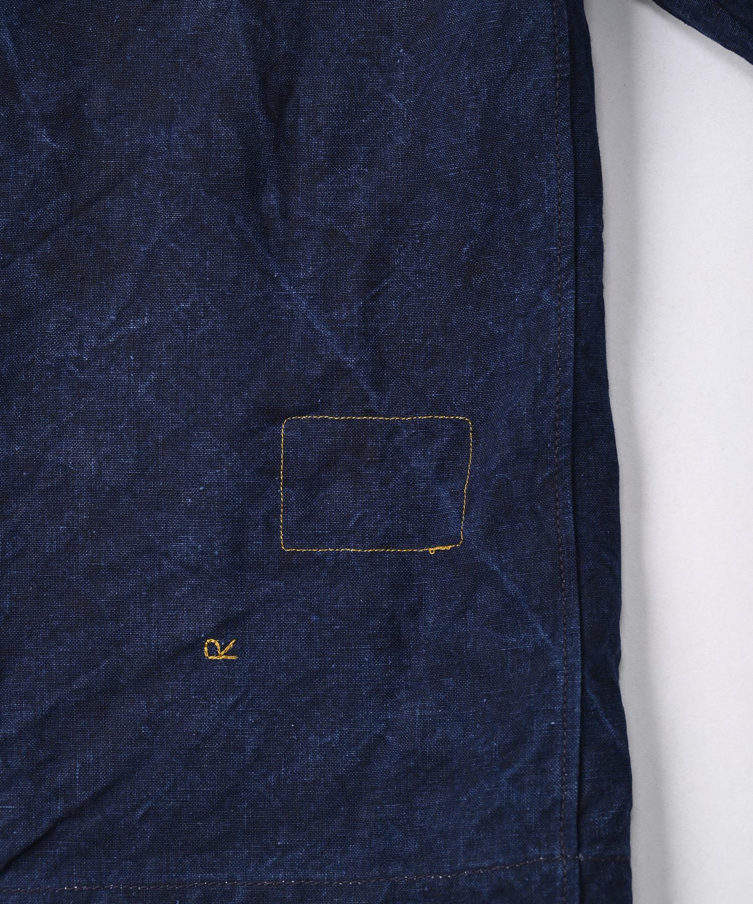 Indigo Linen Duck 908 Asama Coverall (0421)-12