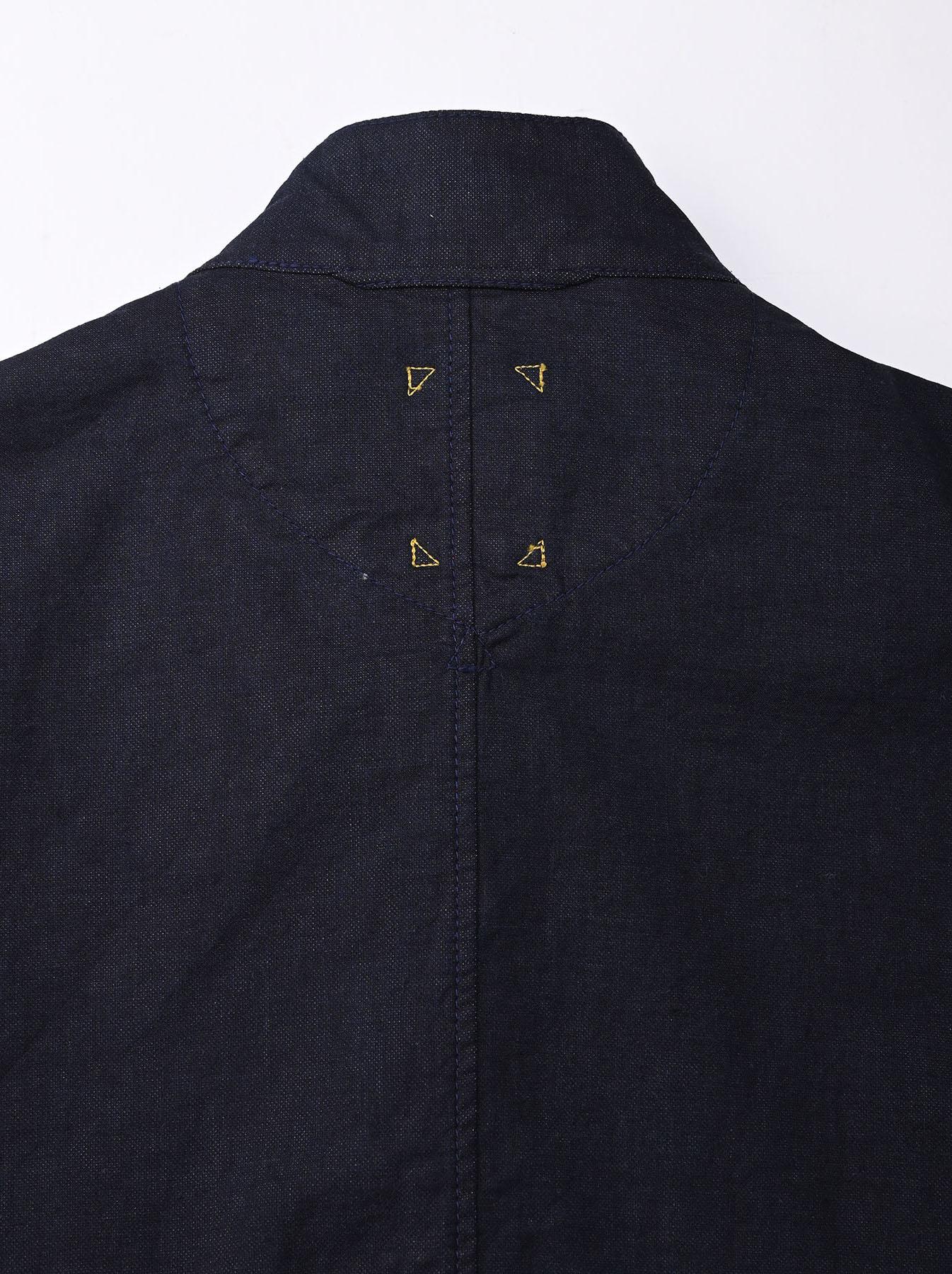 Indigo Double Woven 908 Shirt Jacket (0421)-9