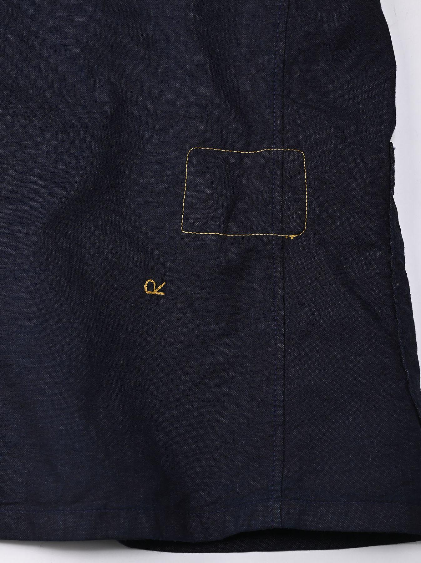 Indigo Double Woven 908 Shirt Jacket (0421)-10