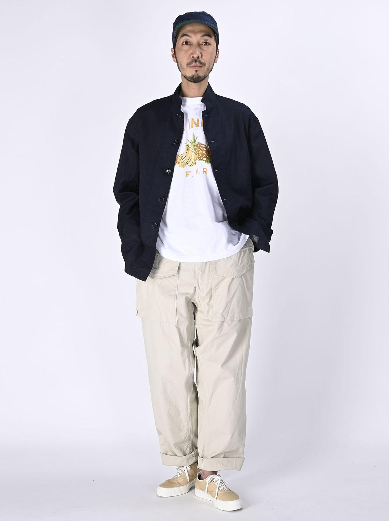 Indigo Double Woven 908 Shirt Jacket (0421)-2