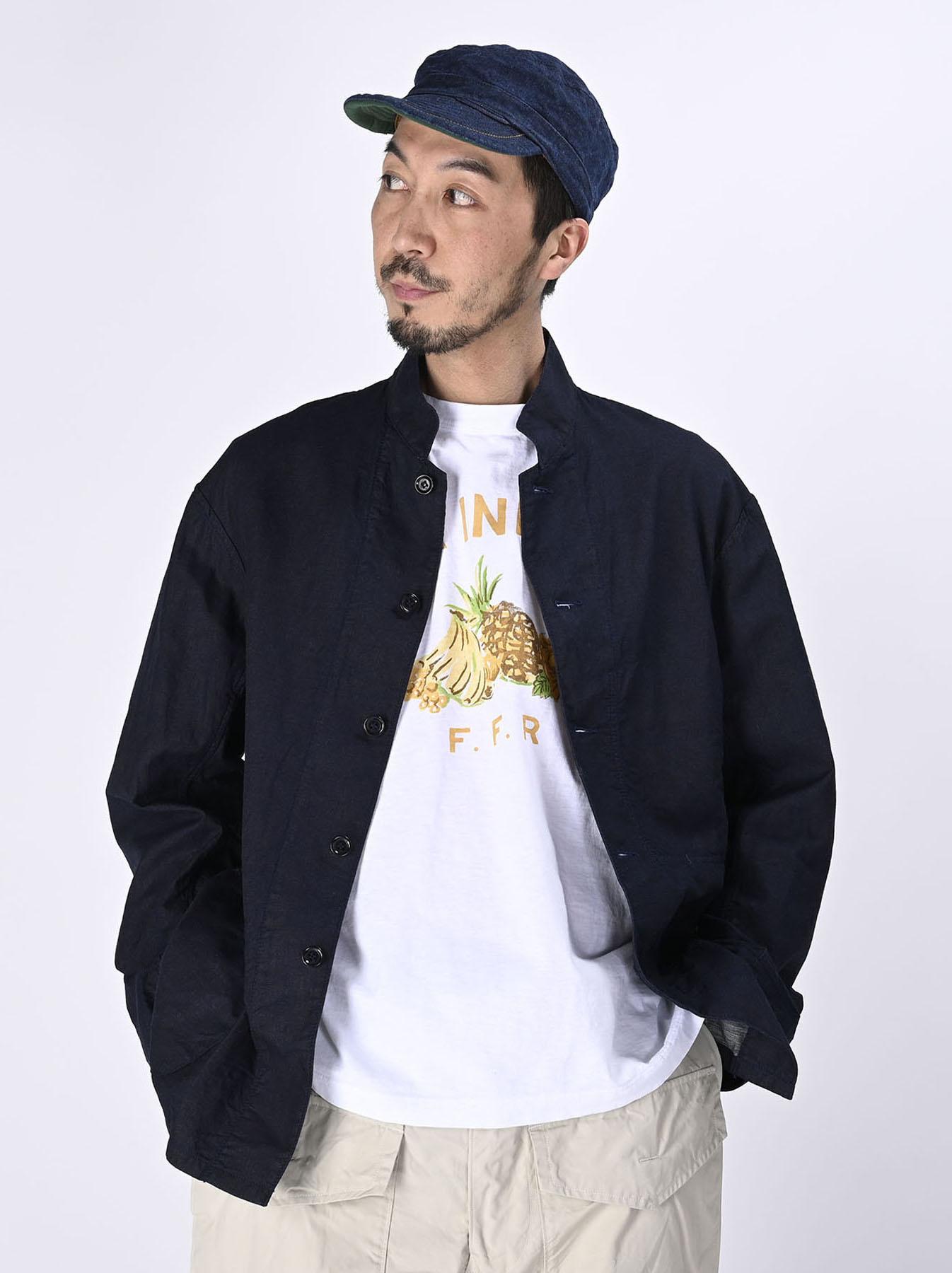 Indigo Double Woven 908 Shirt Jacket (0421)-3