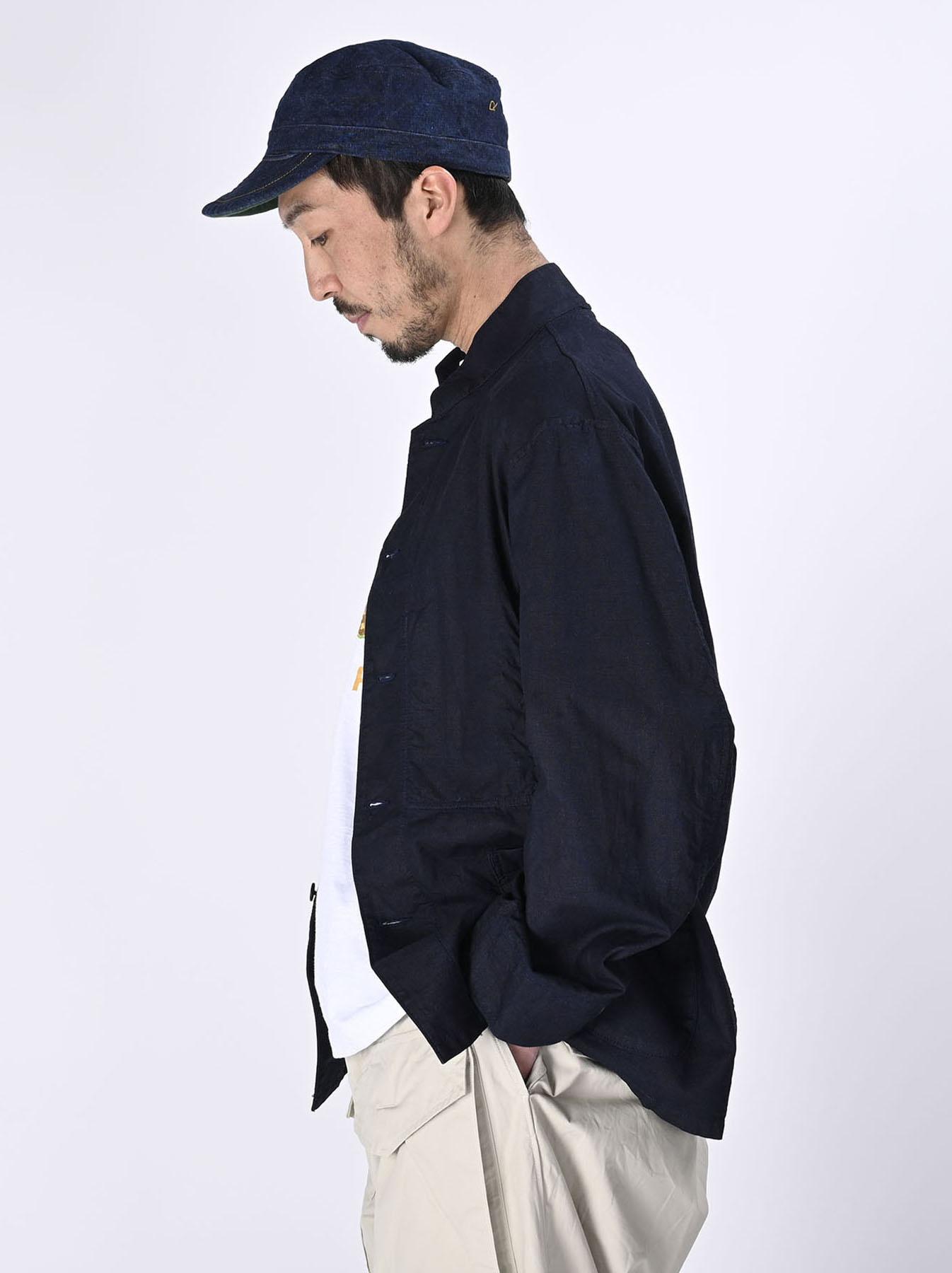 Indigo Double Woven 908 Shirt Jacket (0421)-4