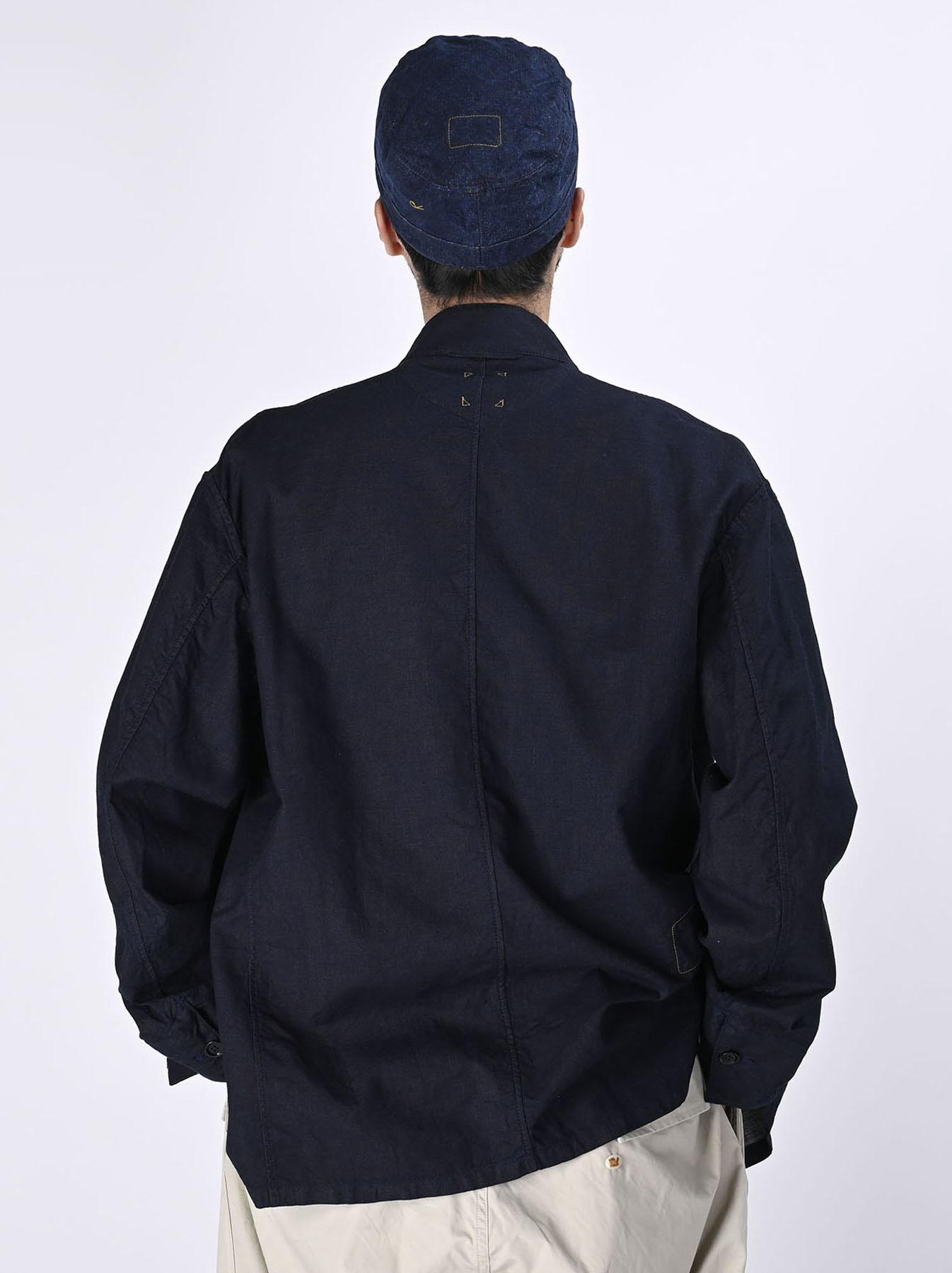 Indigo Double Woven 908 Shirt Jacket (0421)-5