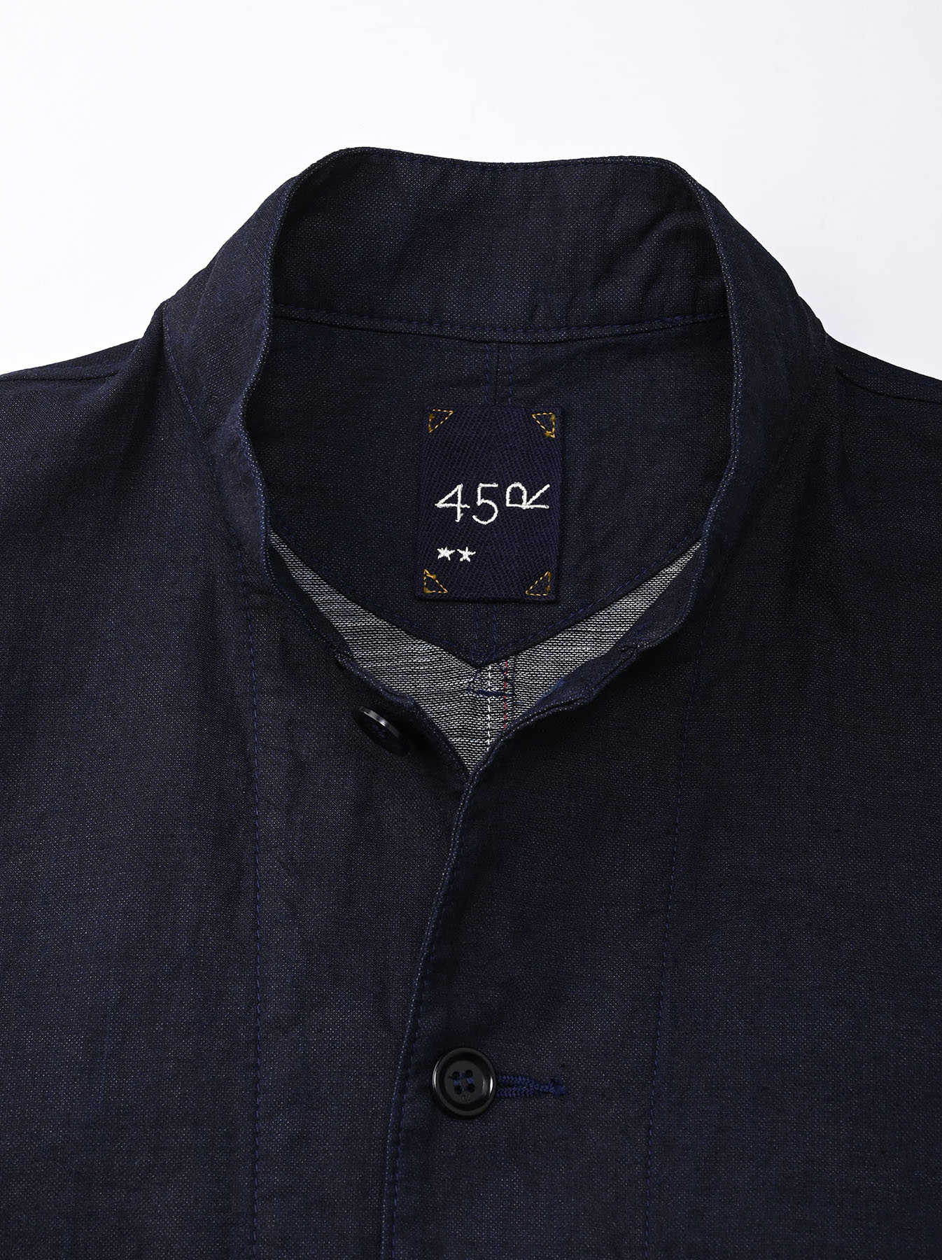 Indigo Double Woven 908 Shirt Jacket (0421)-7