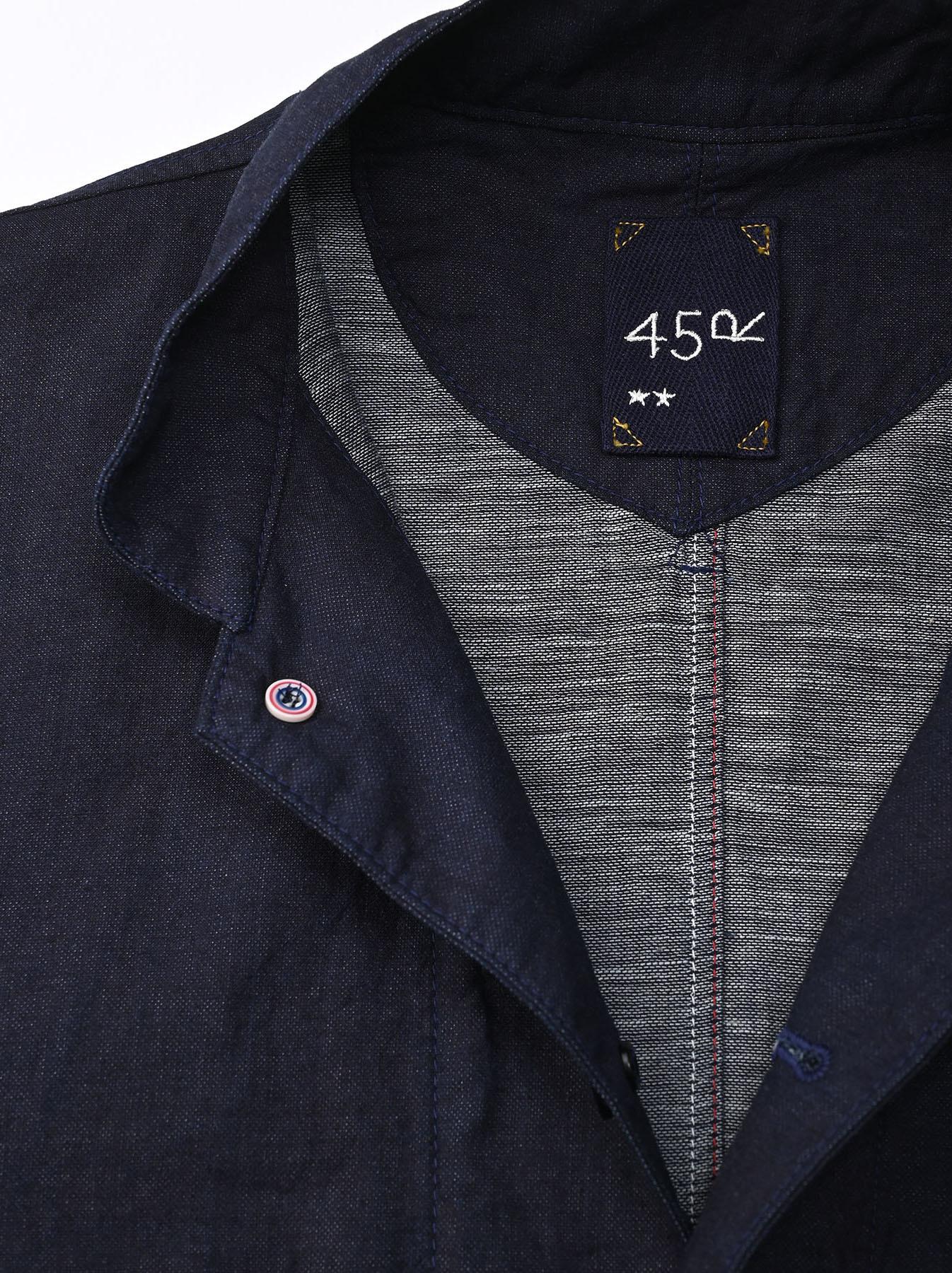 Indigo Double Woven 908 Shirt Jacket (0421)-8