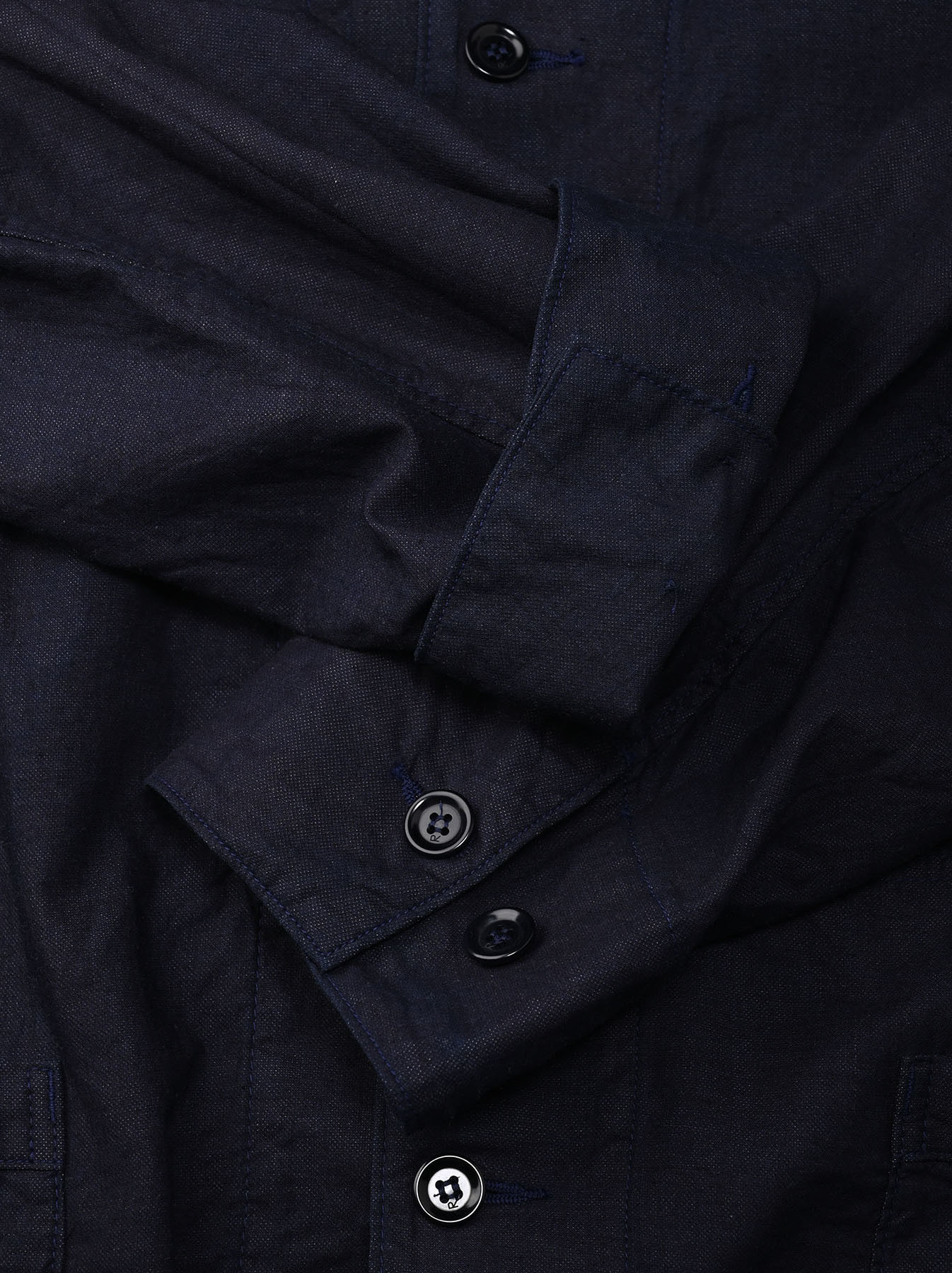 Indigo Double Woven 908 Shirt Jacket (0421)-11