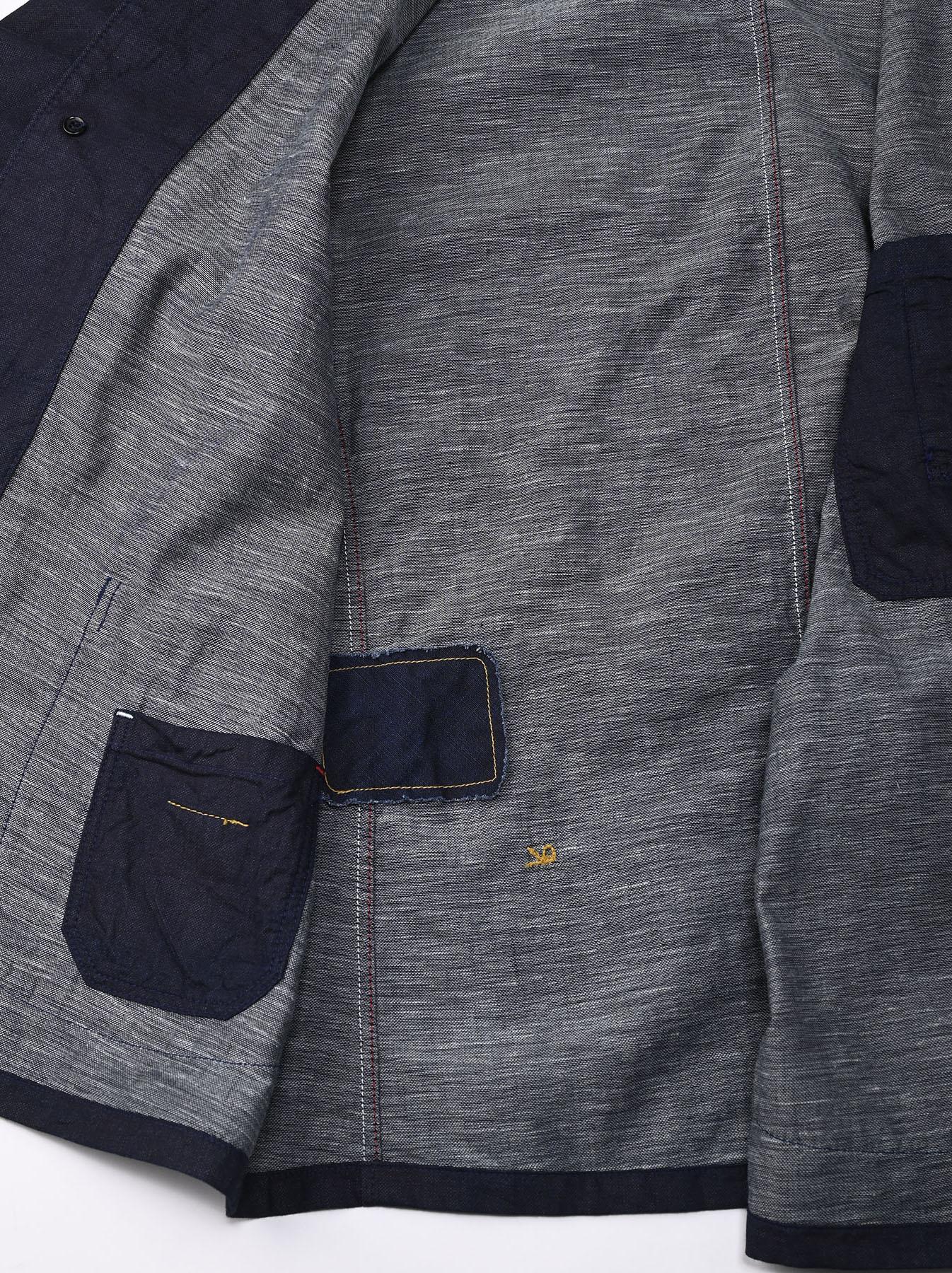 Indigo Double Woven 908 Shirt Jacket (0421)-12