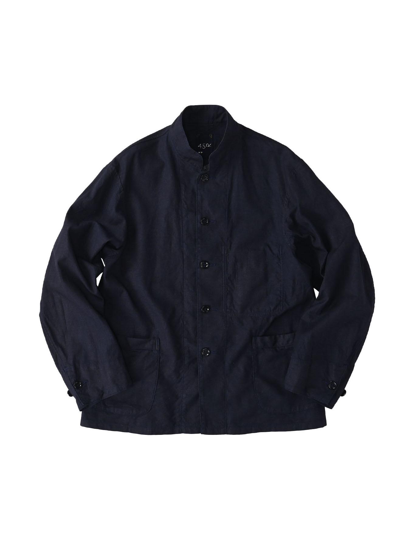 Indigo Double Woven 908 Shirt Jacket (0421)-1