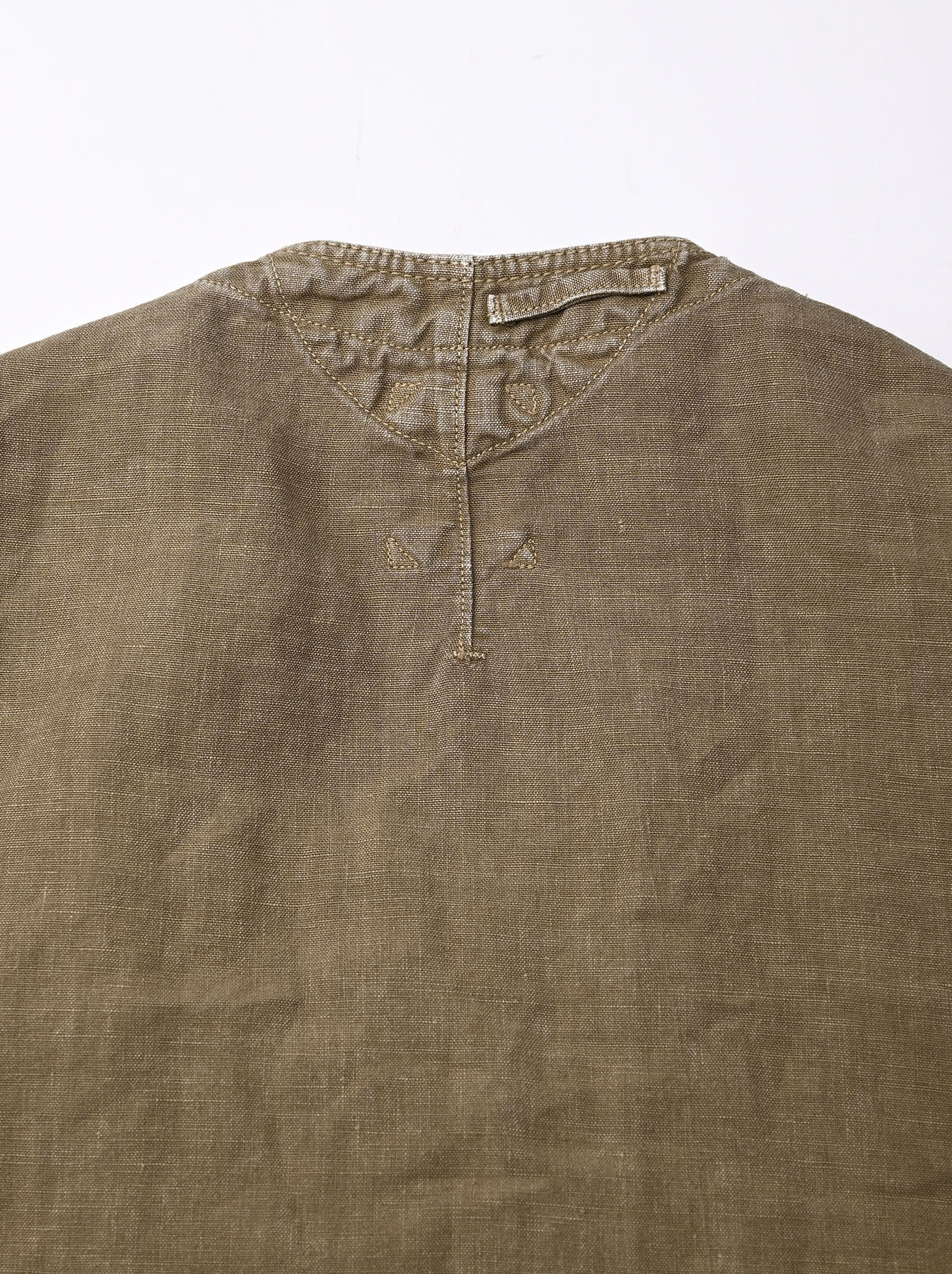 Linen Post Dyed 908 V-neck  Coverall (0421)-7