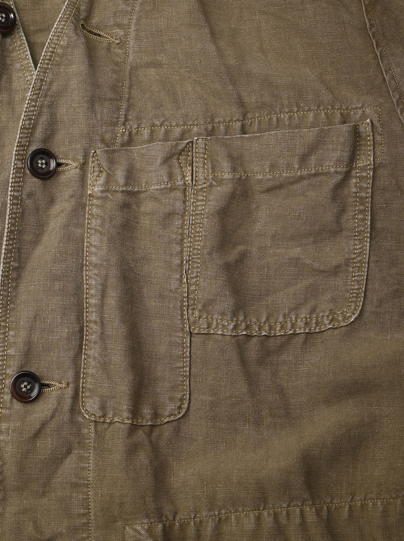 Linen Post Dyed 908 V-neck  Coverall (0421)-10