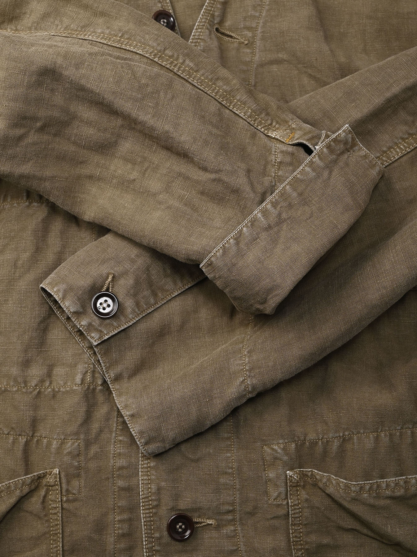 Linen Post Dyed 908 V-neck  Coverall (0421)-12