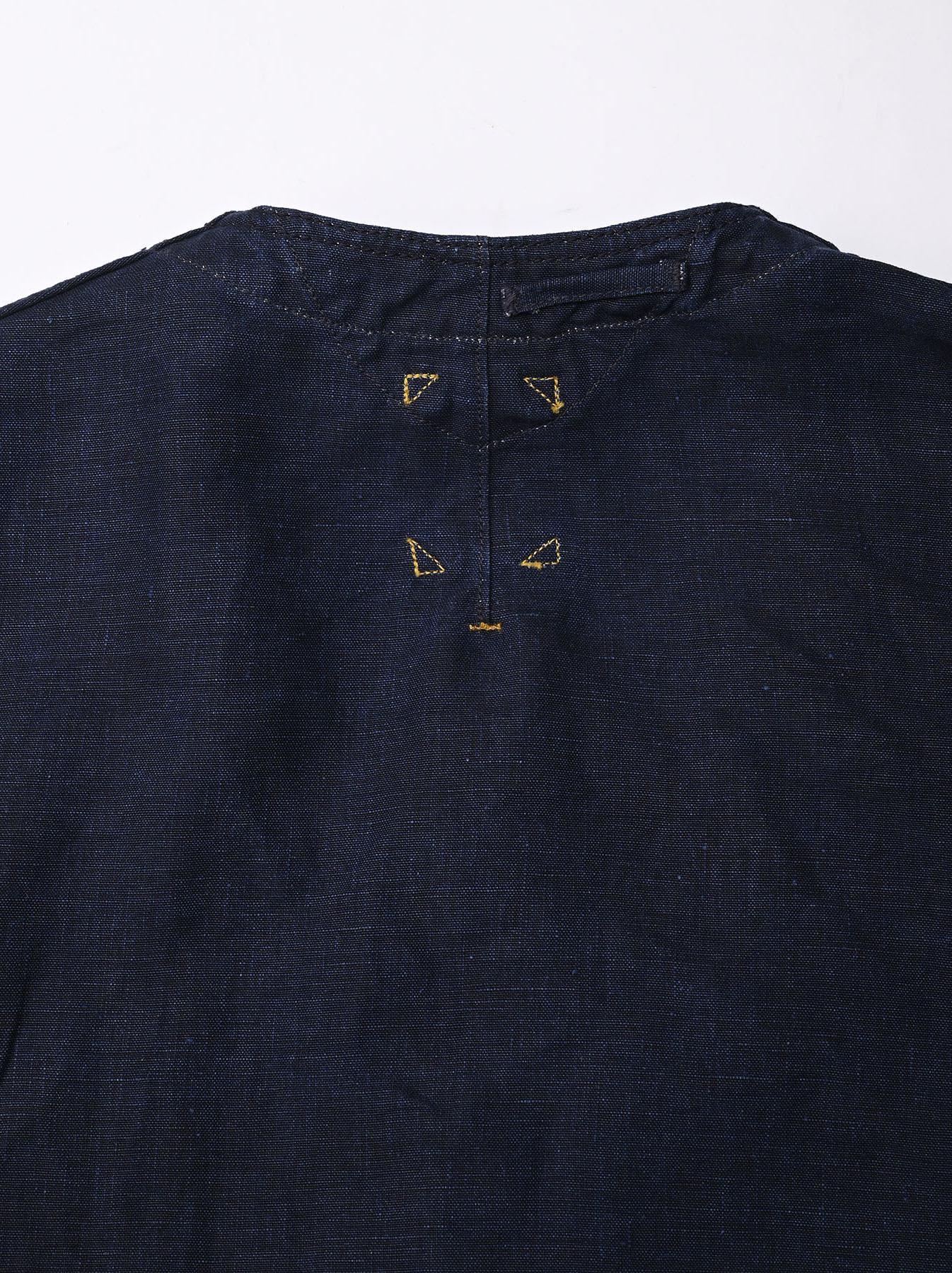 Indigo Linen 908 V-neck Coverall (0421)-7