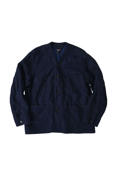 Indigo Linen 908 V-neck Coverall (0421)