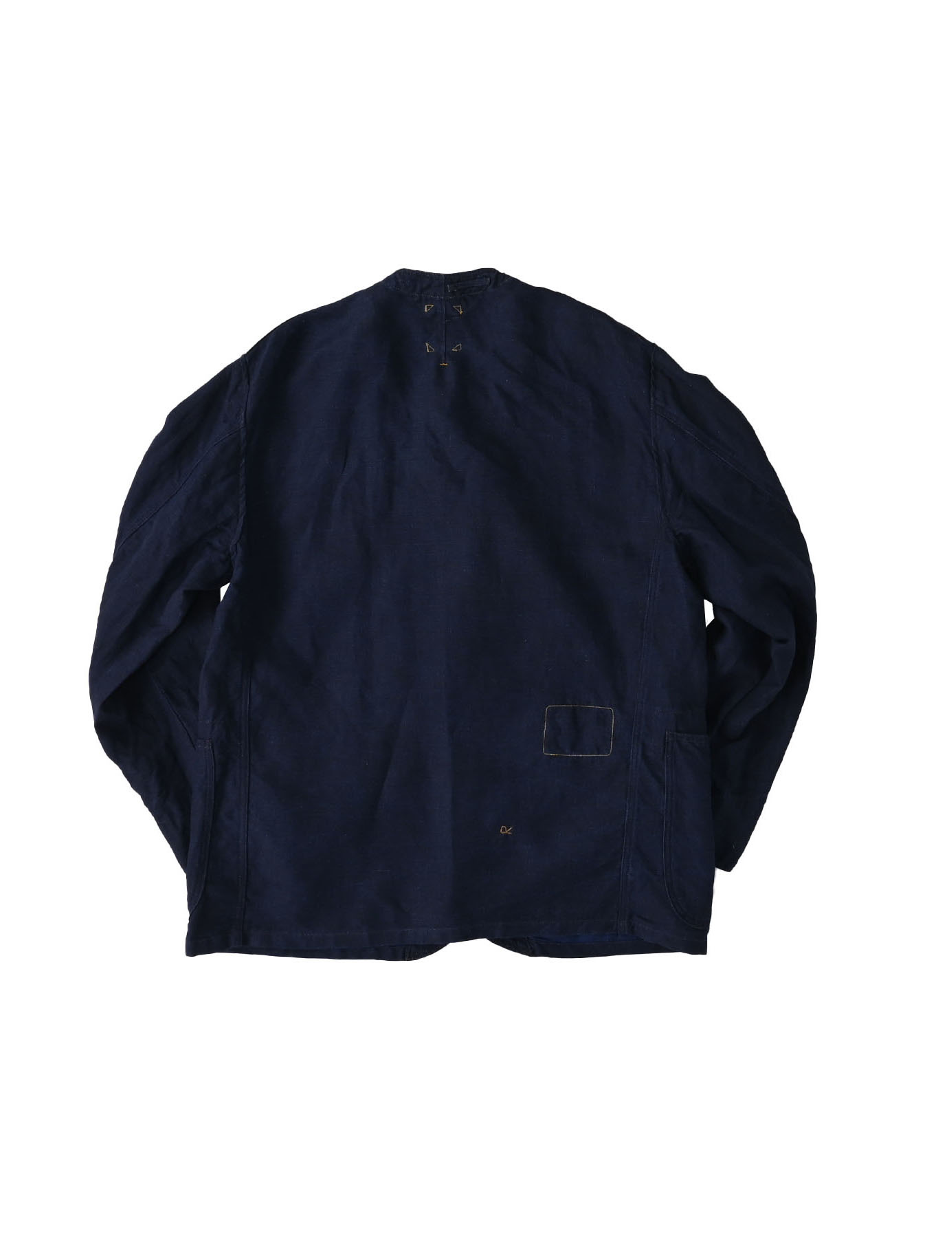 Indigo Linen 908 V-neck Coverall (0421)-6