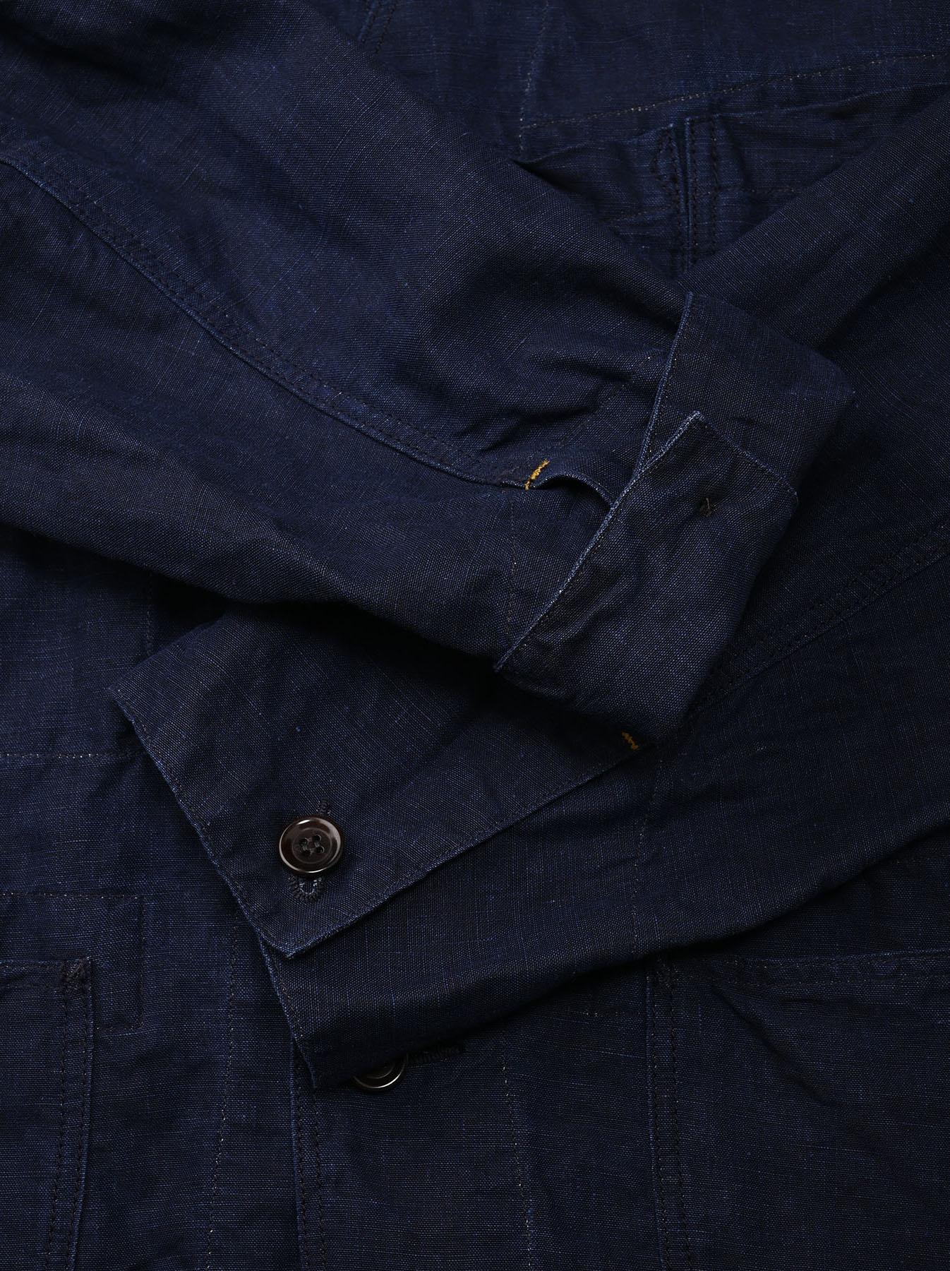 Indigo Linen 908 V-neck Coverall (0421)-11