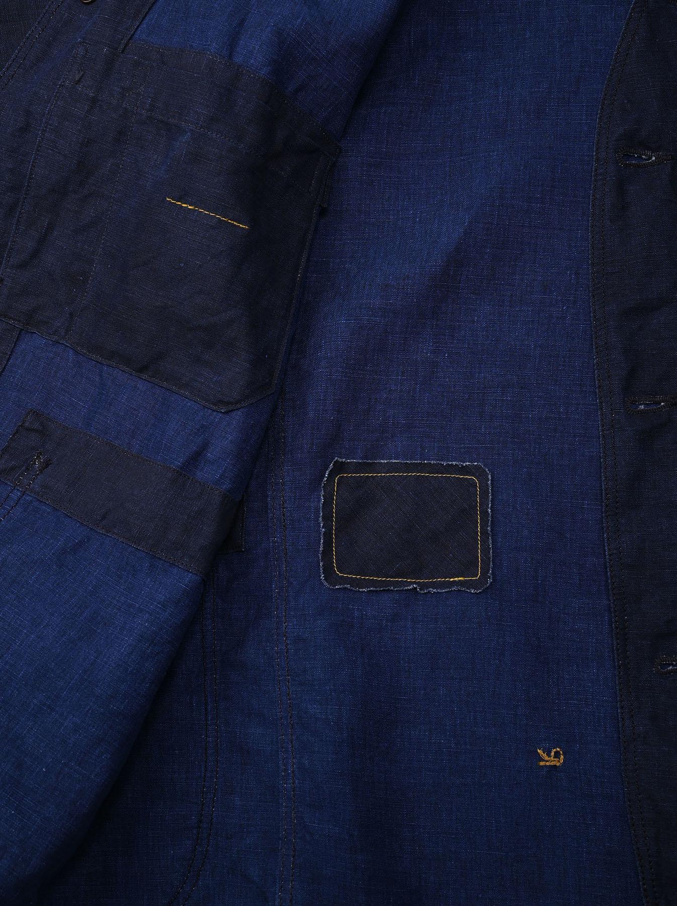 Indigo Linen 908 V-neck Coverall (0421)-12