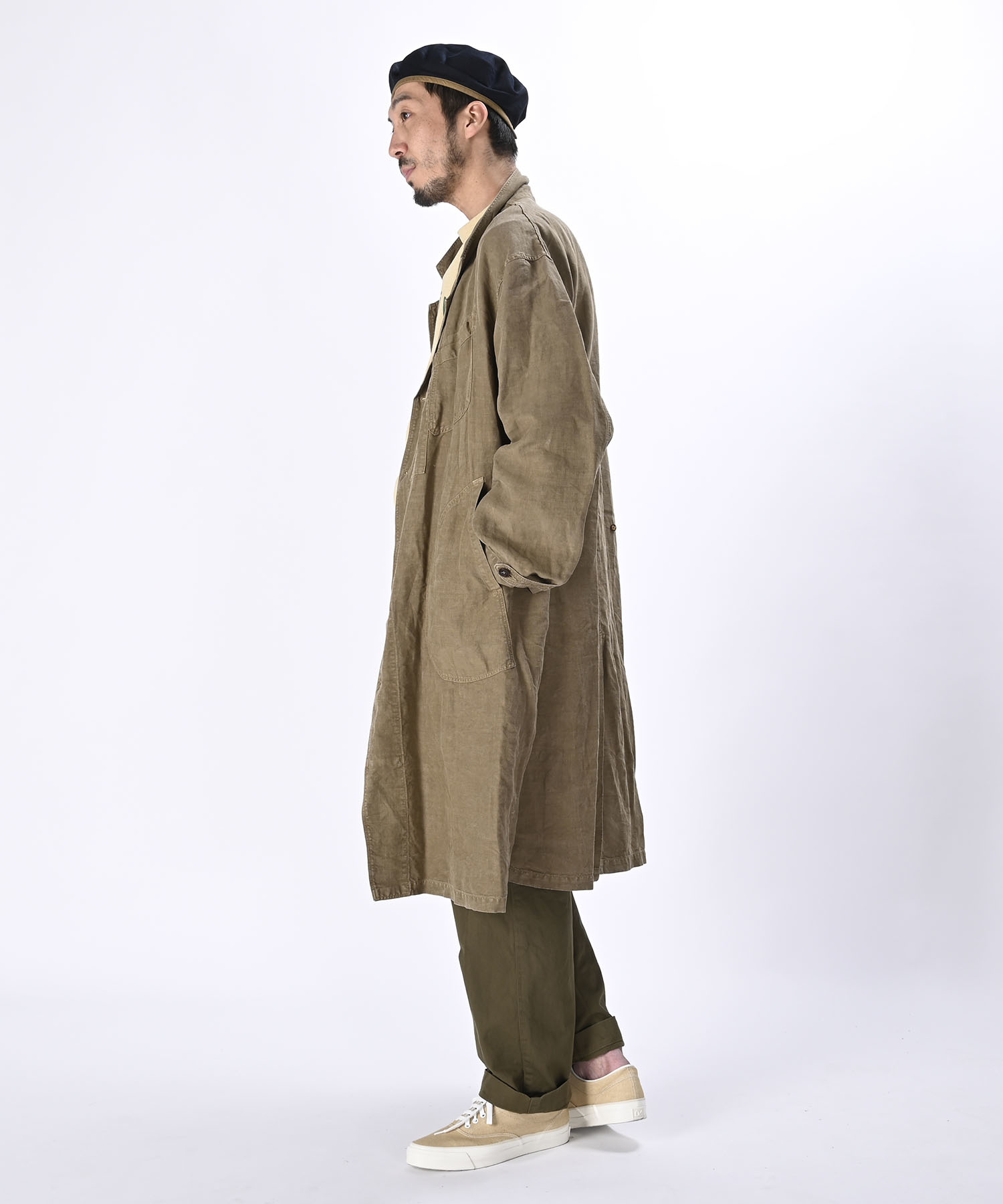 Linen Post Dyed 908 Coat (0421)-3