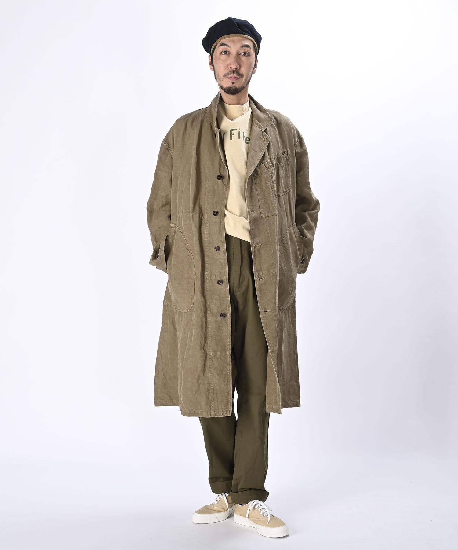 Linen Post Dyed 908 Coat (0421)-2