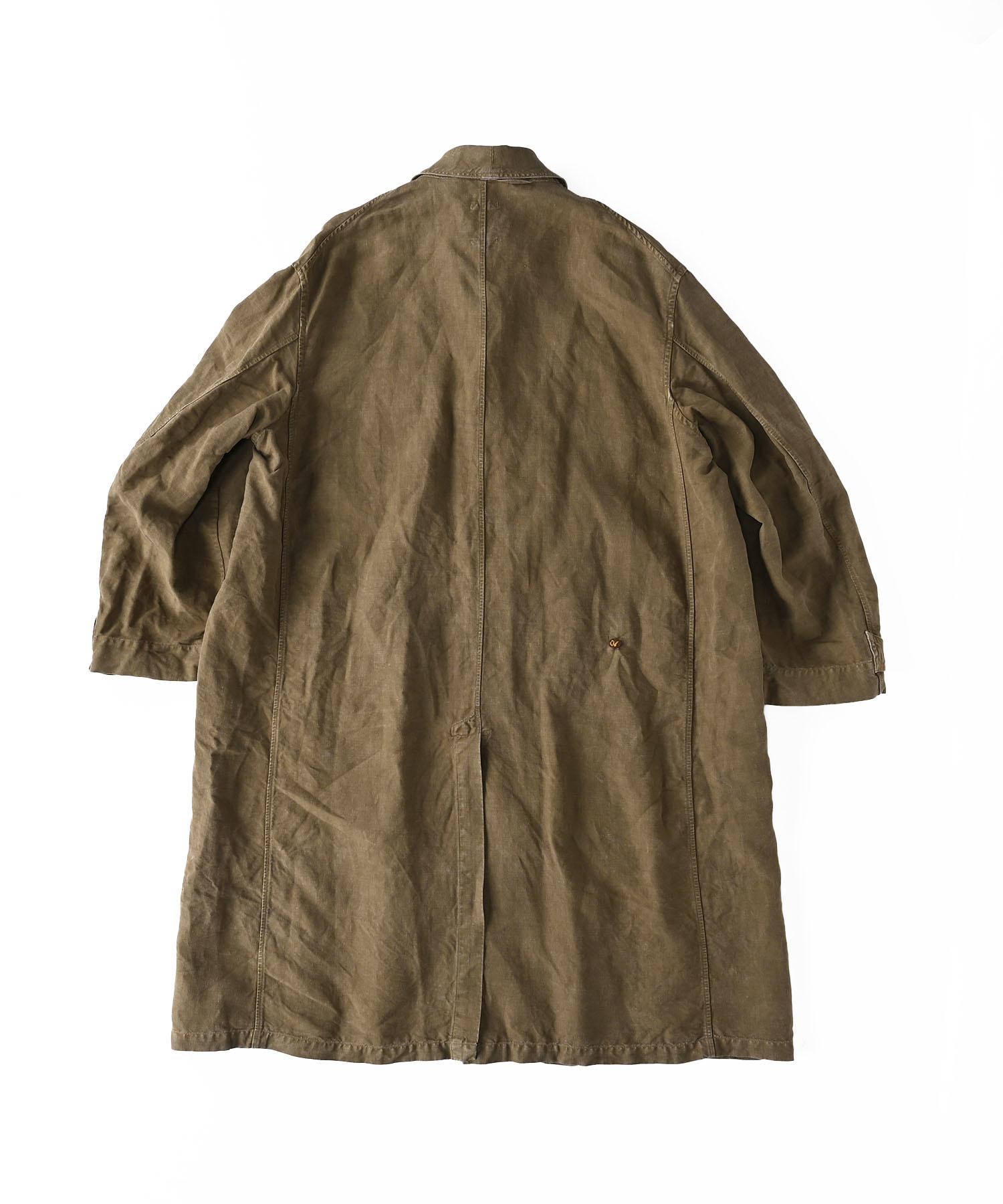 Linen Post Dyed 908 Coat (0421)-5