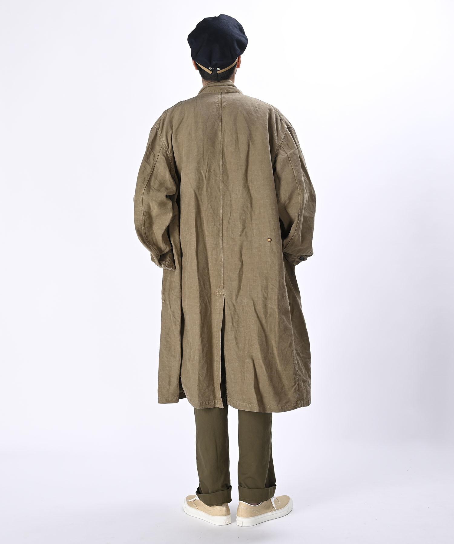 Linen Post Dyed 908 Coat (0421)-4