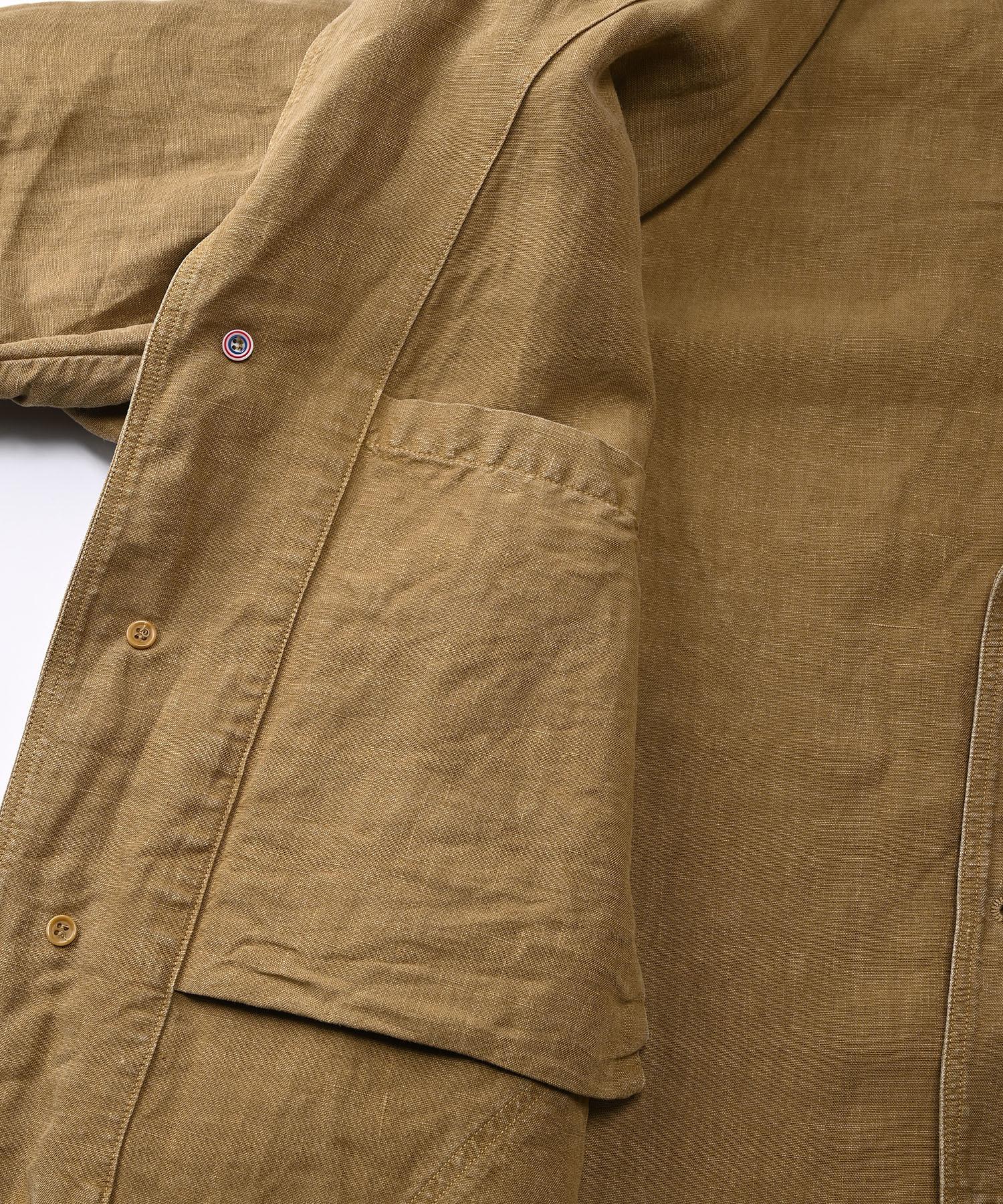 Linen Post Dyed 908 Coat (0421)-11