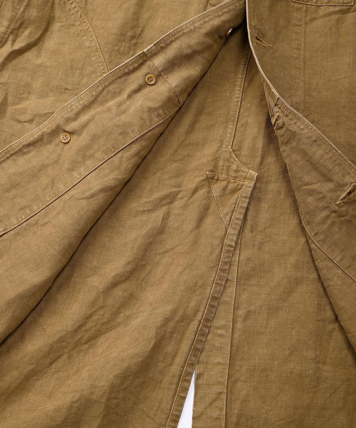 Linen Post Dyed 908 Coat (0421)-12