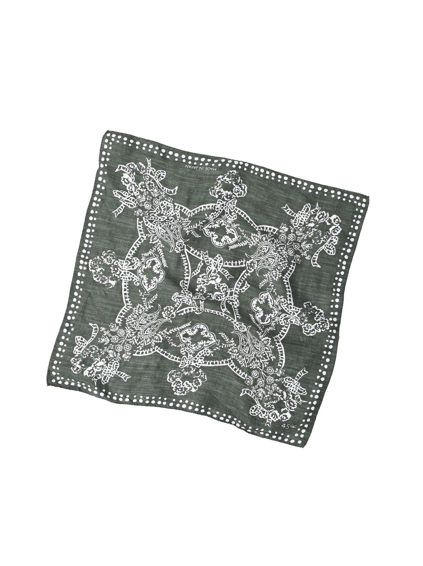 Majotae Selvedge Bouquet Bandana (0421)-1