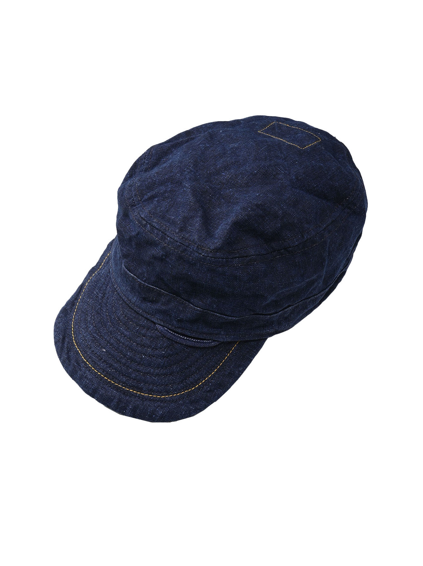 Indigo Linen Duck Work Cap (0421)-1