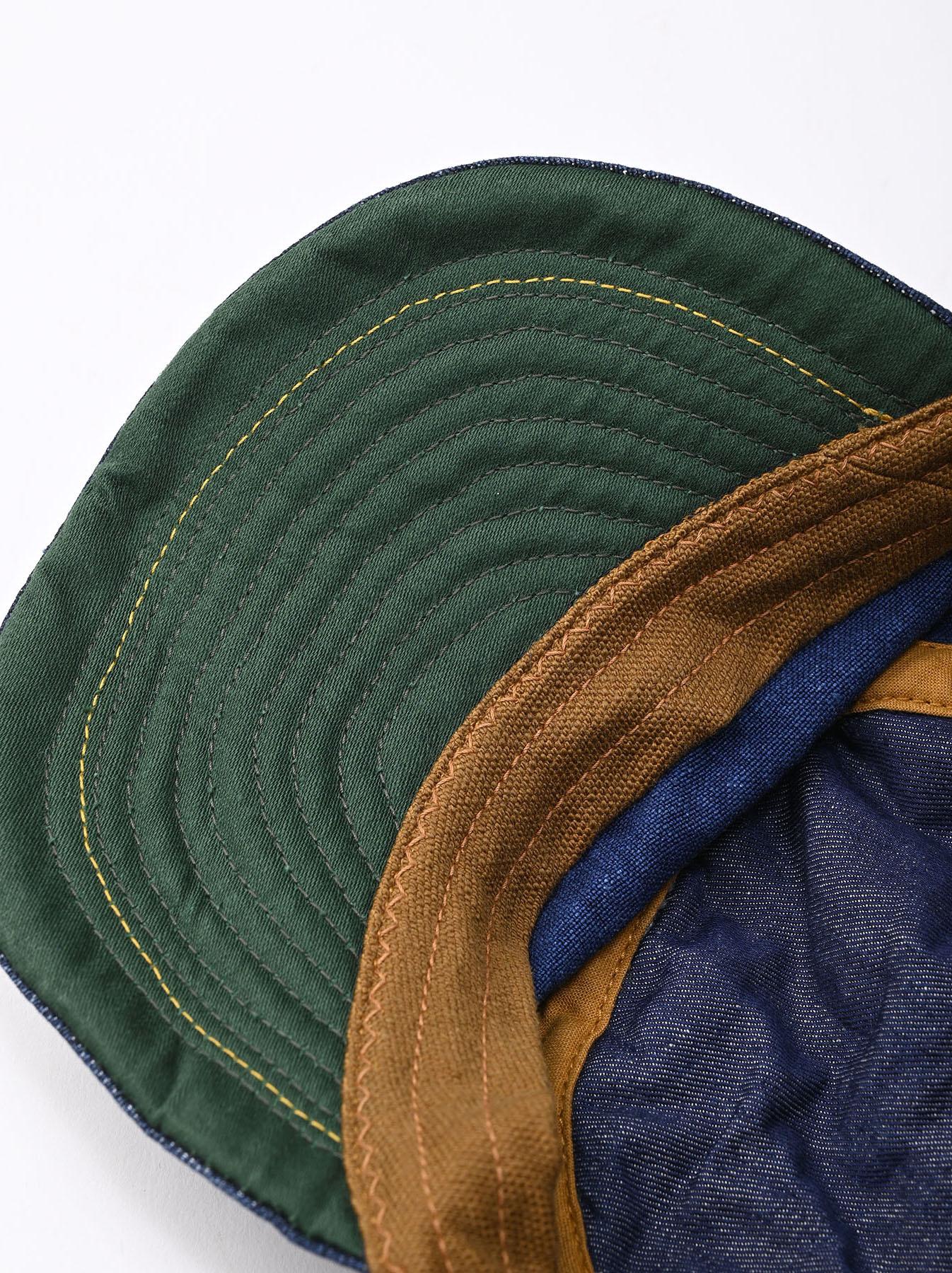 Indigo Linen Duck Work Cap (0421)-8