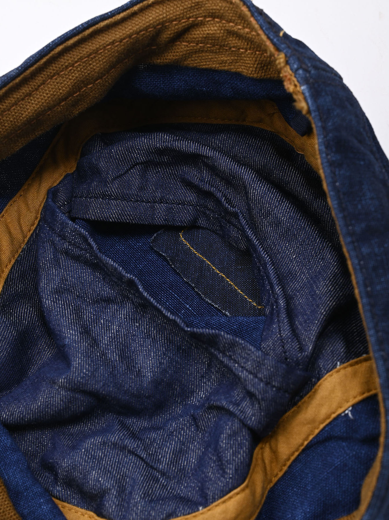 Indigo Linen Duck Work Cap (0421)-9