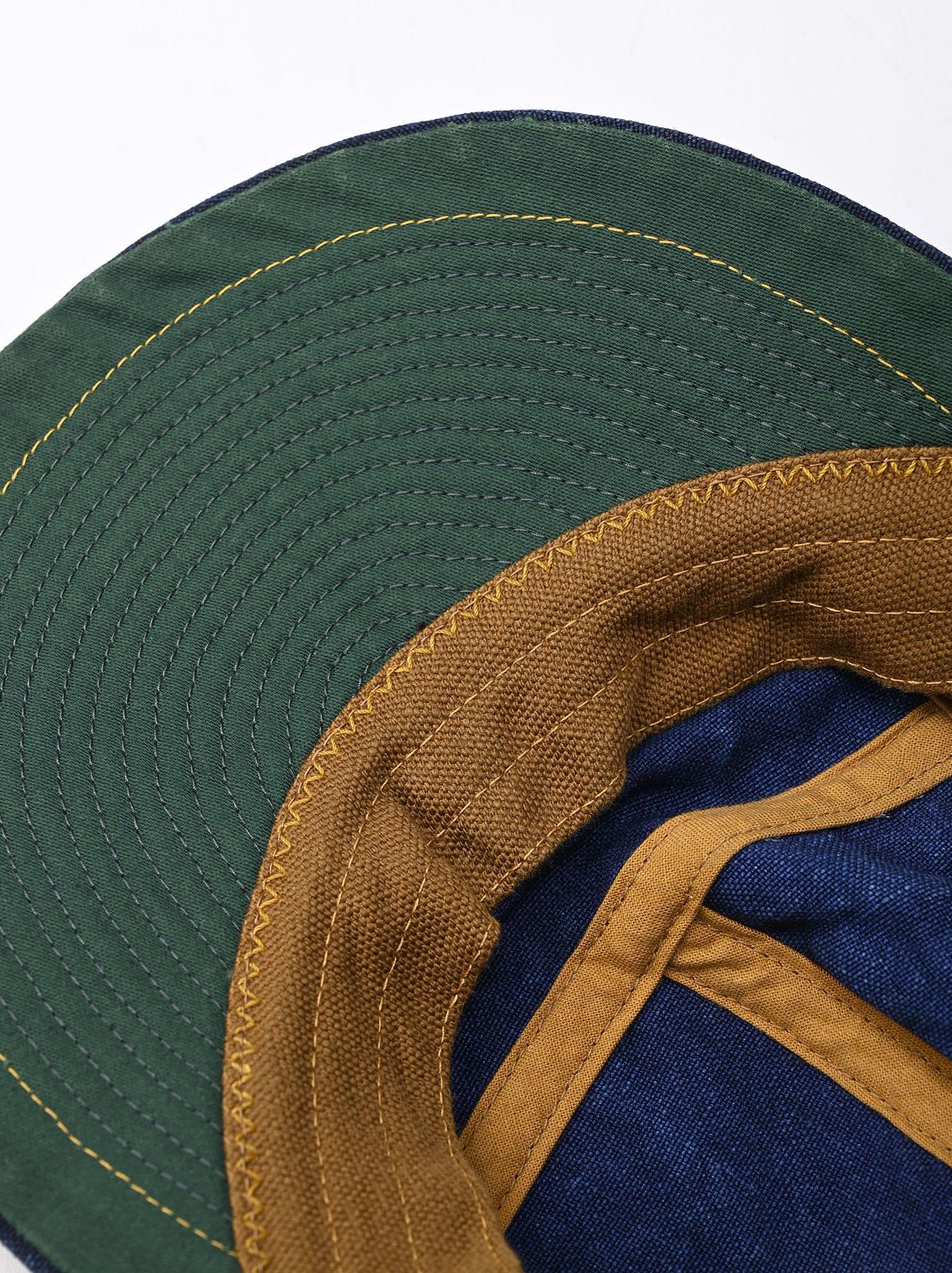 Indigo Linen Duck Cap (0421)-8