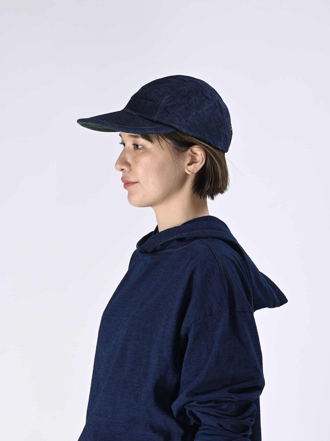 Indigo Linen Duck Cap (0421)-4