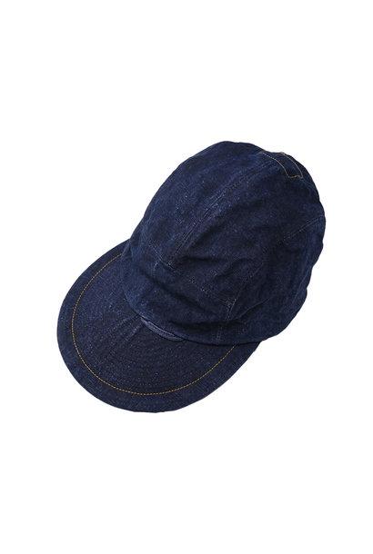 Indigo Linen Duck Cap (0421)