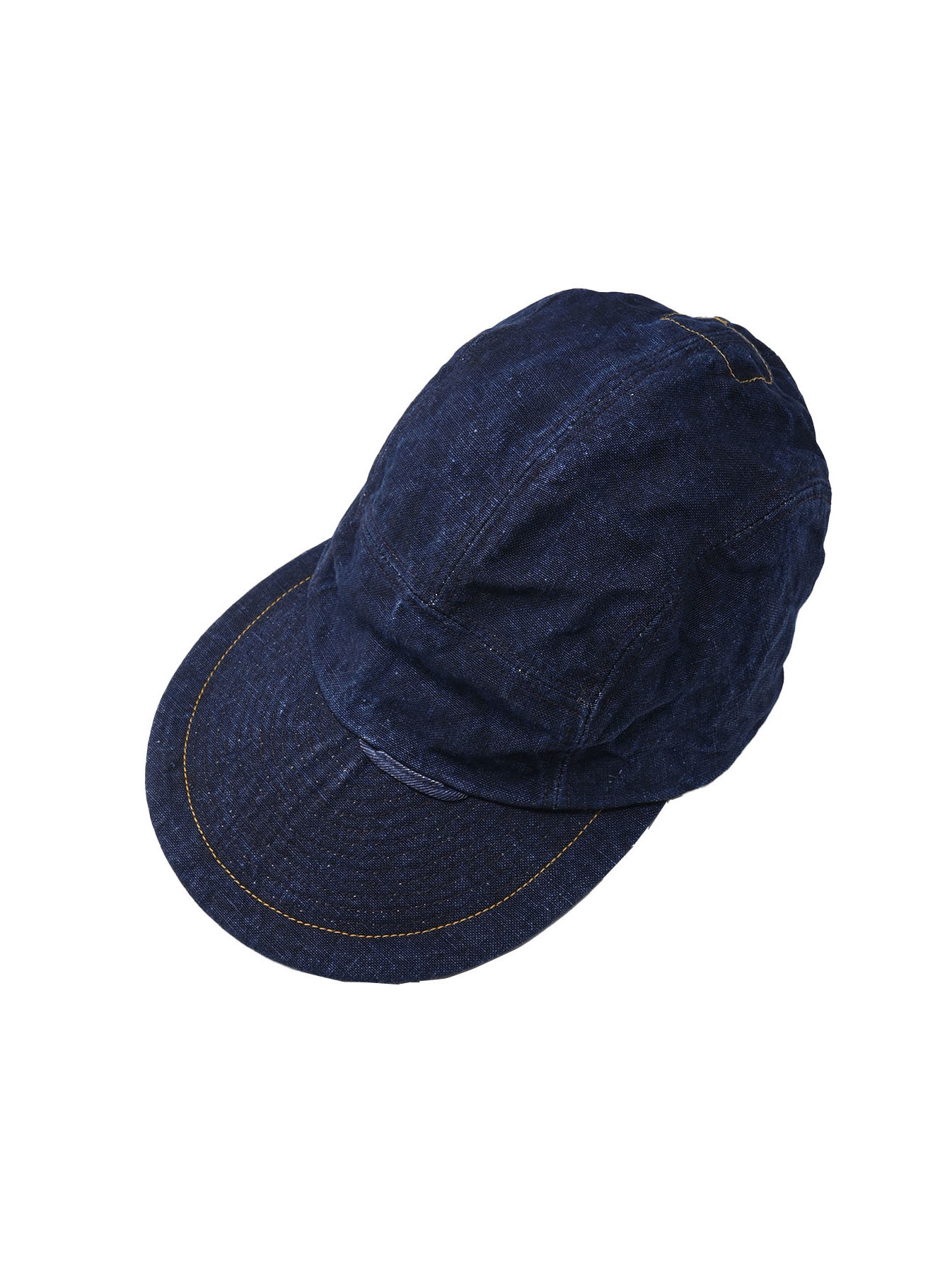 Indigo Linen Duck Cap (0421)-1