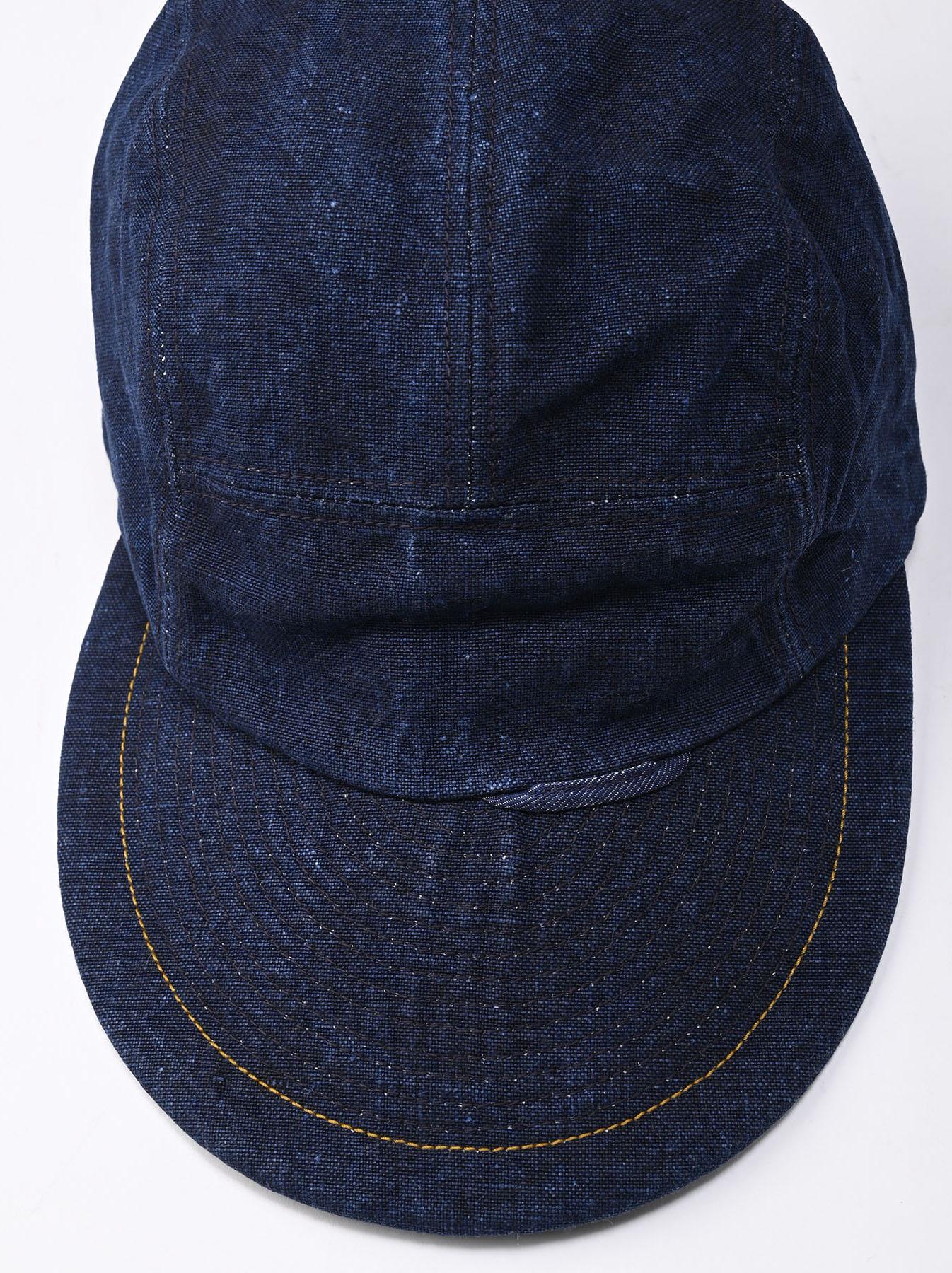 Indigo Linen Duck Cap (0421)-5