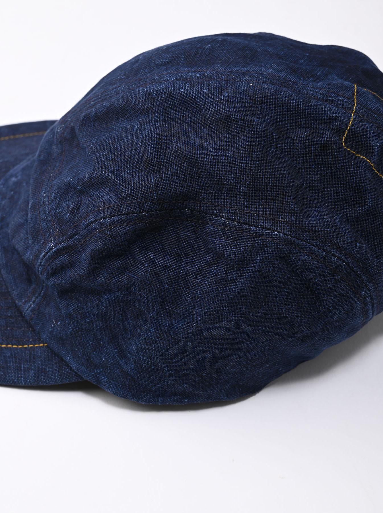 Indigo Linen Duck Cap (0421)-6