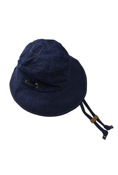 Indigo Linen Duck Sail Hat (0421)